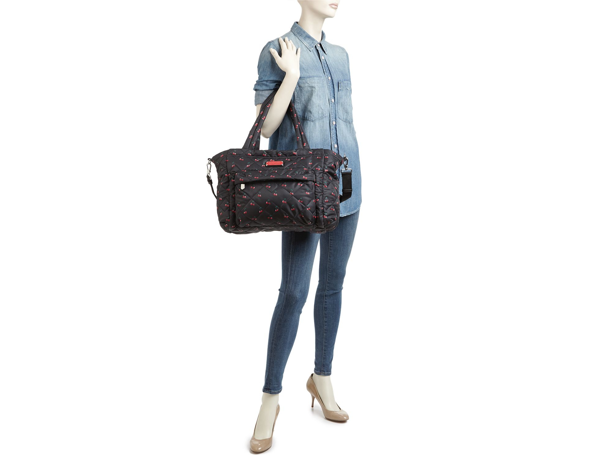 959f13076da Marc By Jacobs Crosby Quilted Cherry Print Elizababy Diaper Bag