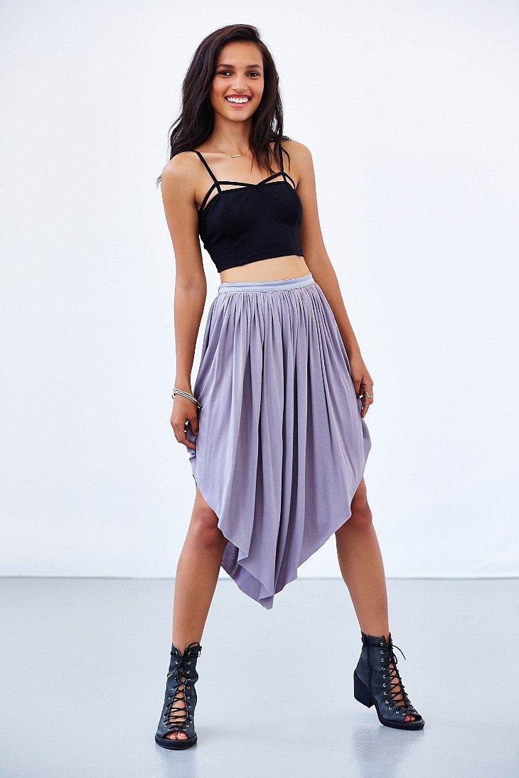 kimchi blue hallie ballet midi skirt in purple lyst