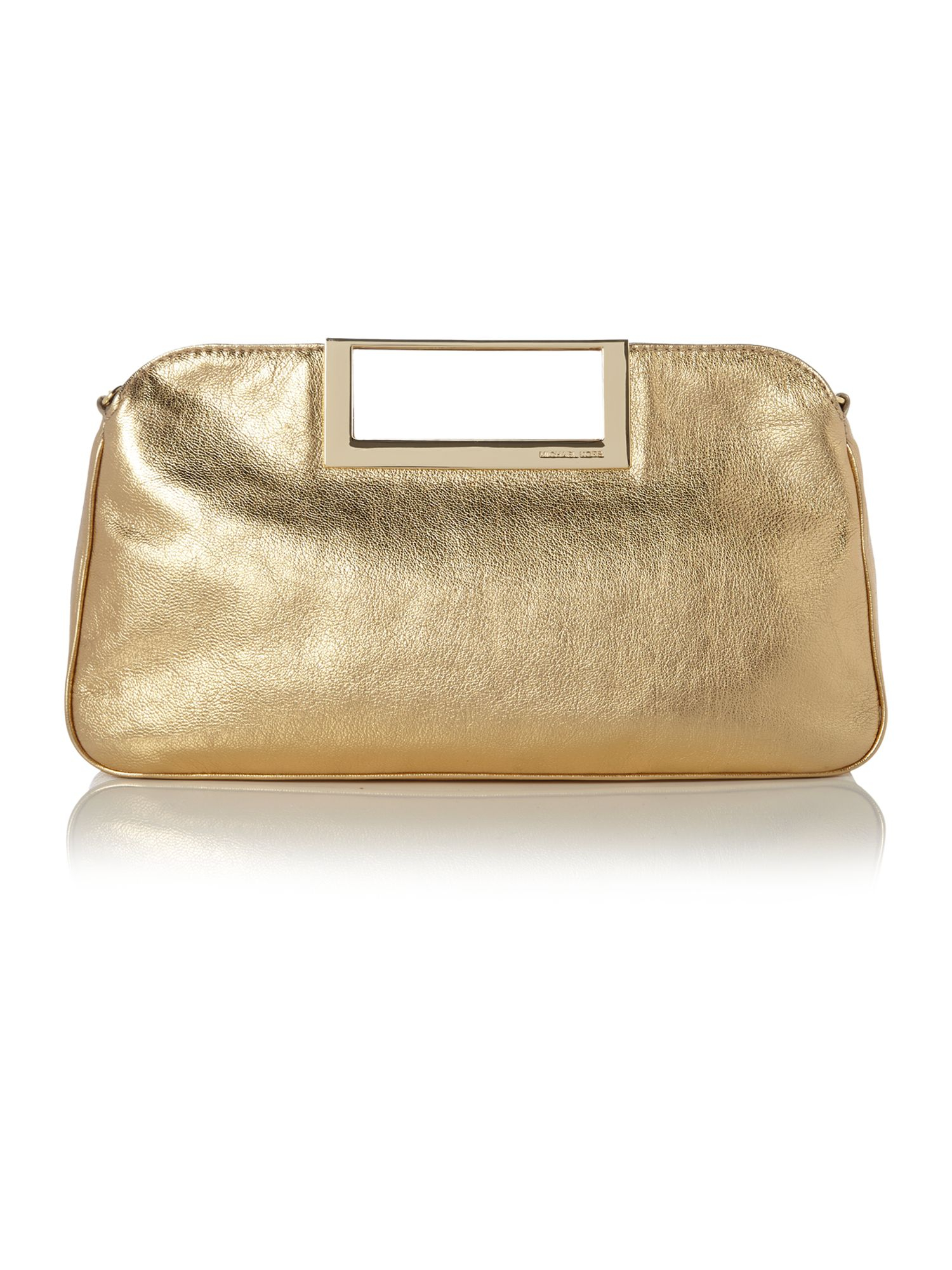 michael kors berkley gold patent clutch bag in gold lyst. Black Bedroom Furniture Sets. Home Design Ideas