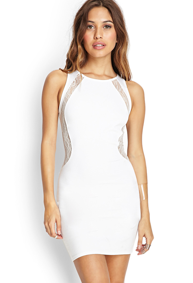 party forever 21 white dress
