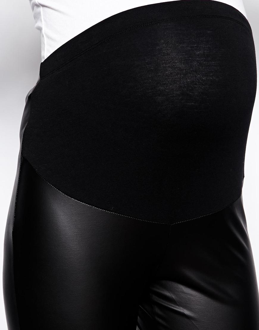 d41655457b182 ASOS Leather Look Leggings in Black - Lyst
