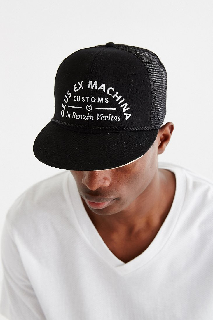 Lyst Deus Ex Machina Deusiah Trucker Hat In Black For Men