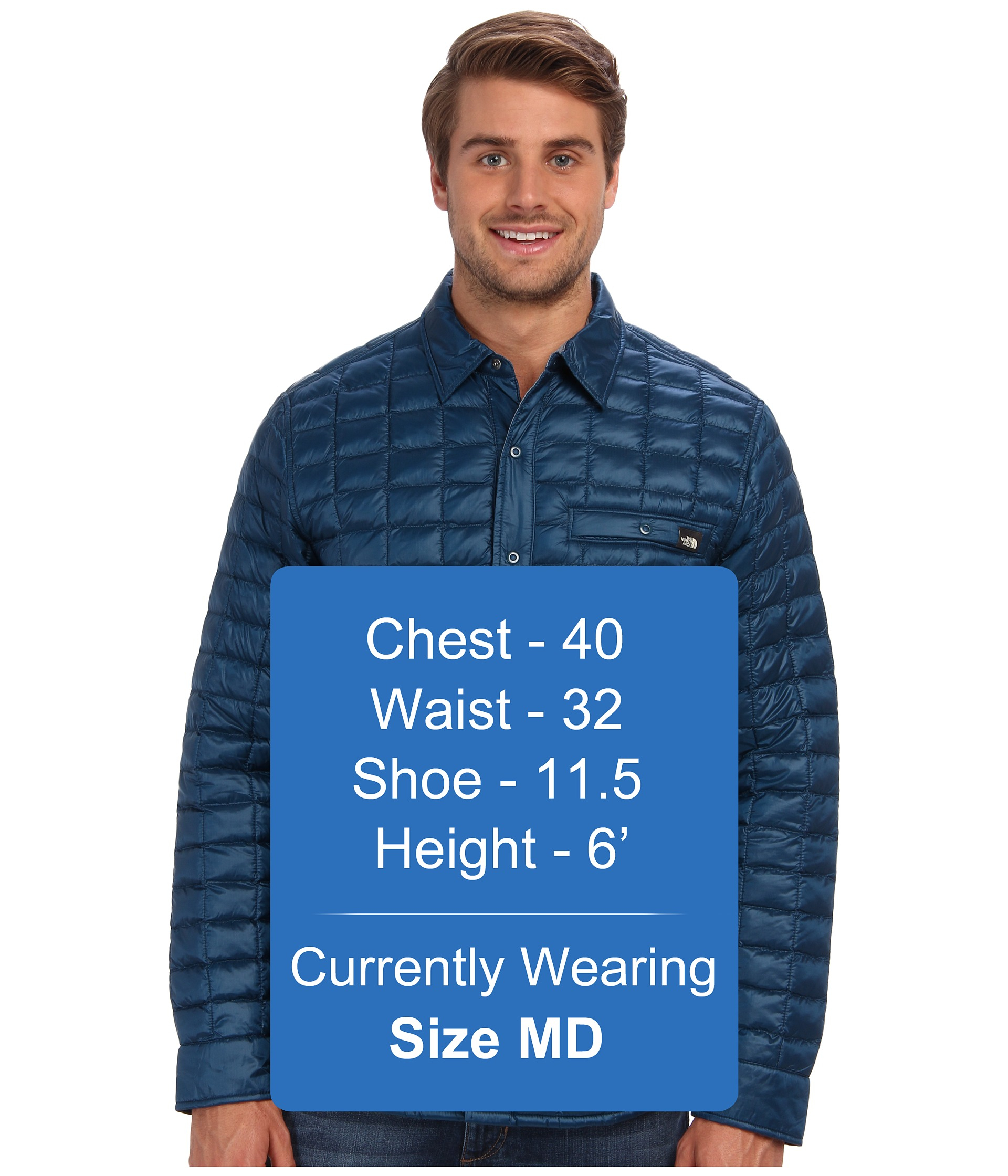 c1593e362 The North Face Blue Reyes Thermoball™ Shirt Jacket for men