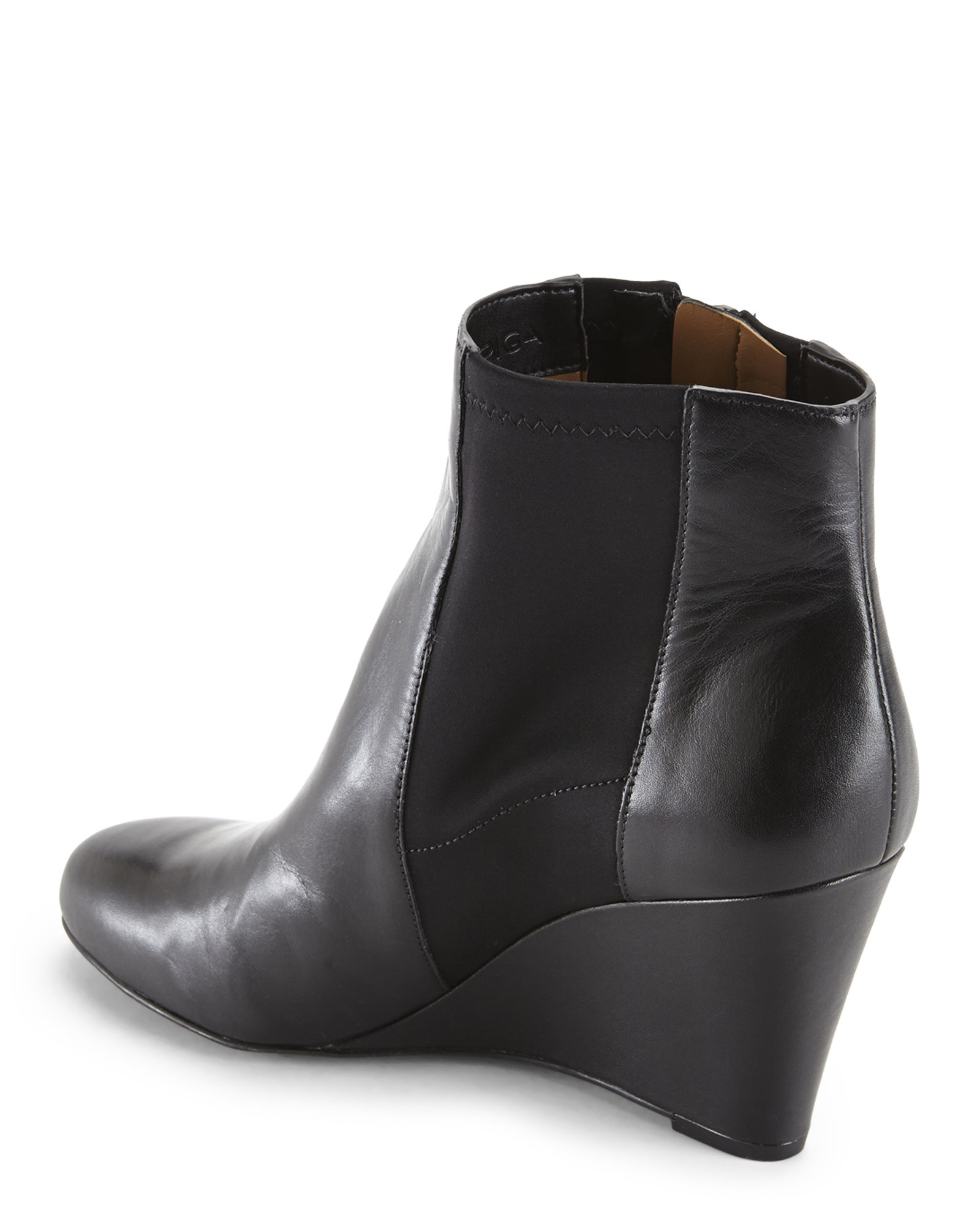 via spiga black filomena wedge boots in black lyst