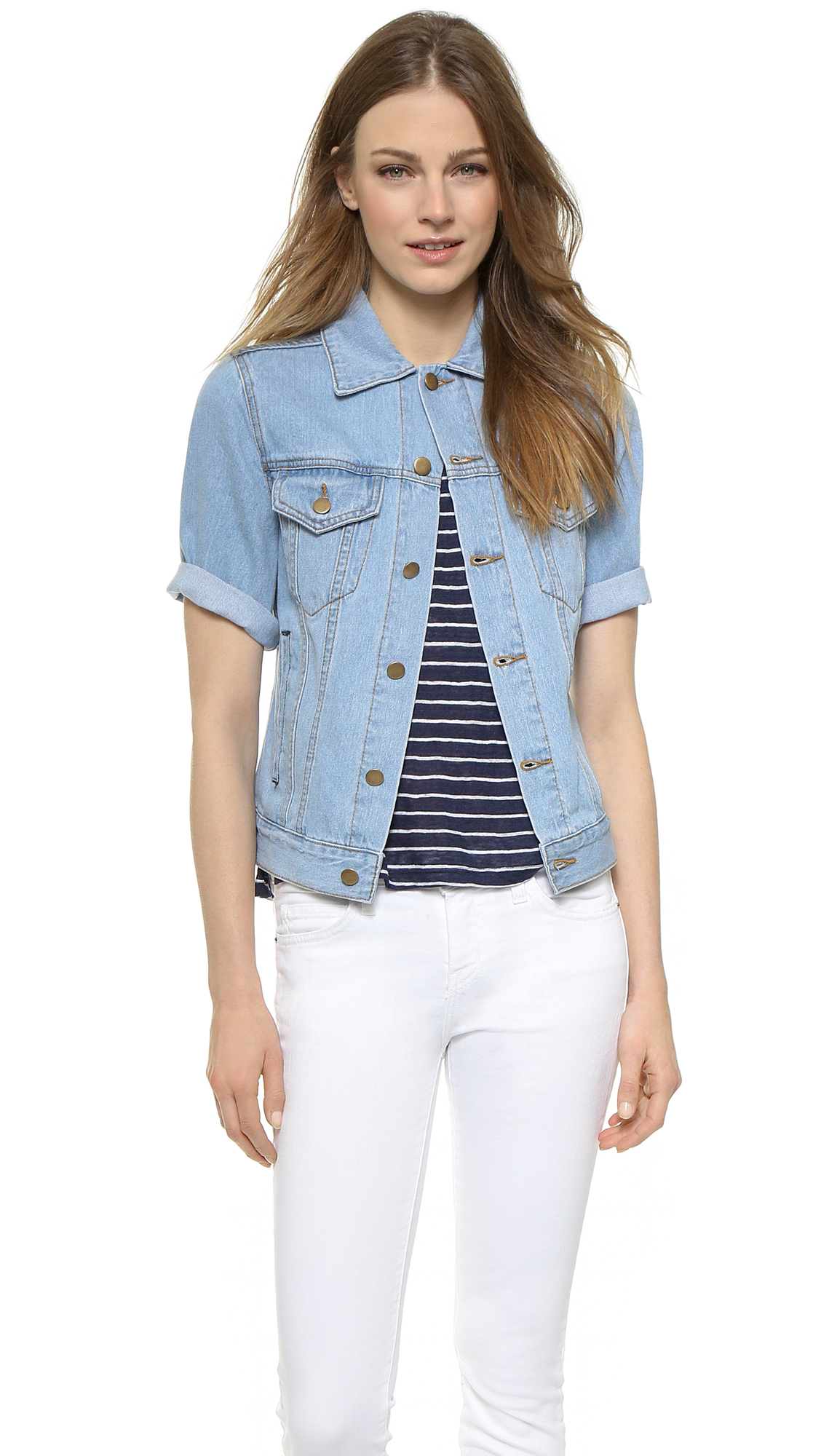 Lyst Ryder Short Sleeve Denim Jacket Indigo In Blue