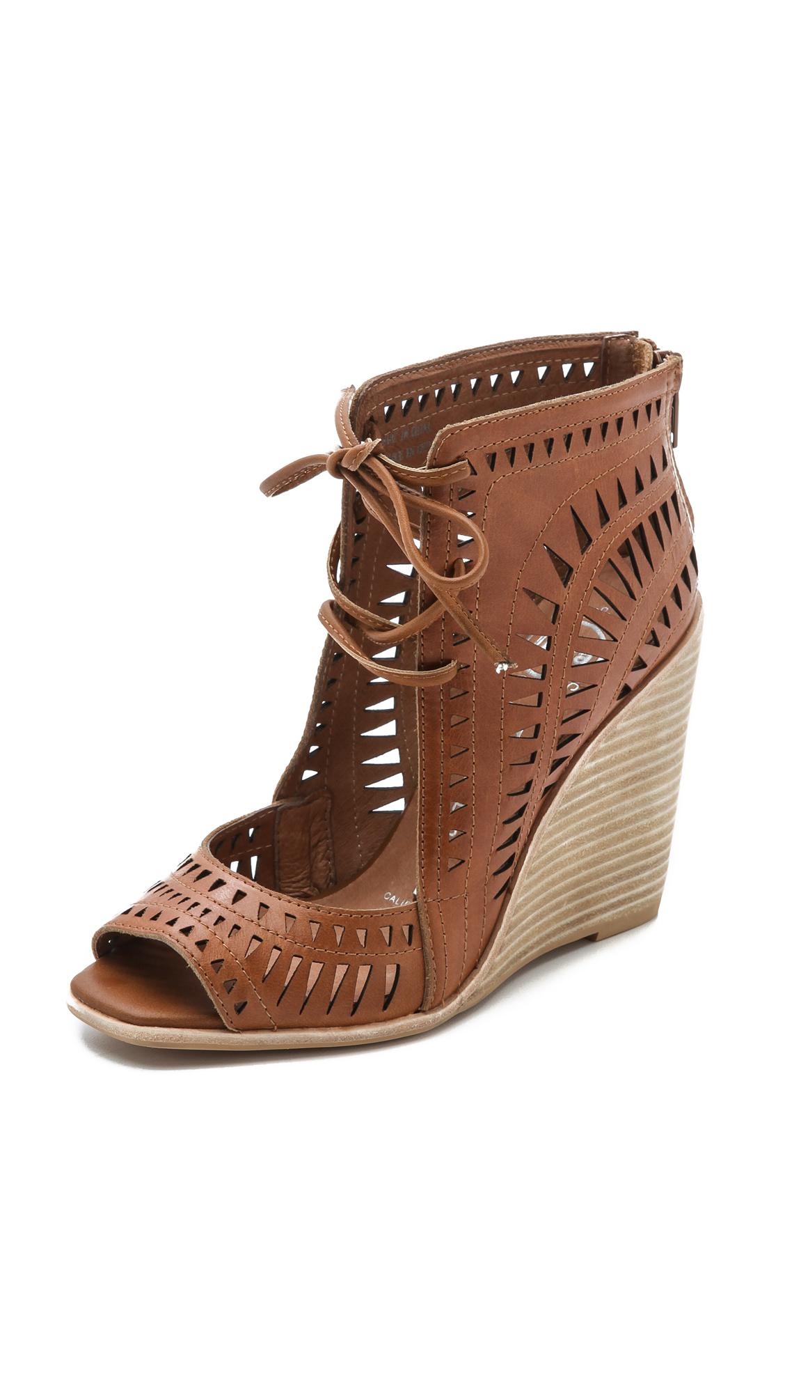 Lyst Jeffrey Campbell Rodillo Wedges Tan In Brown