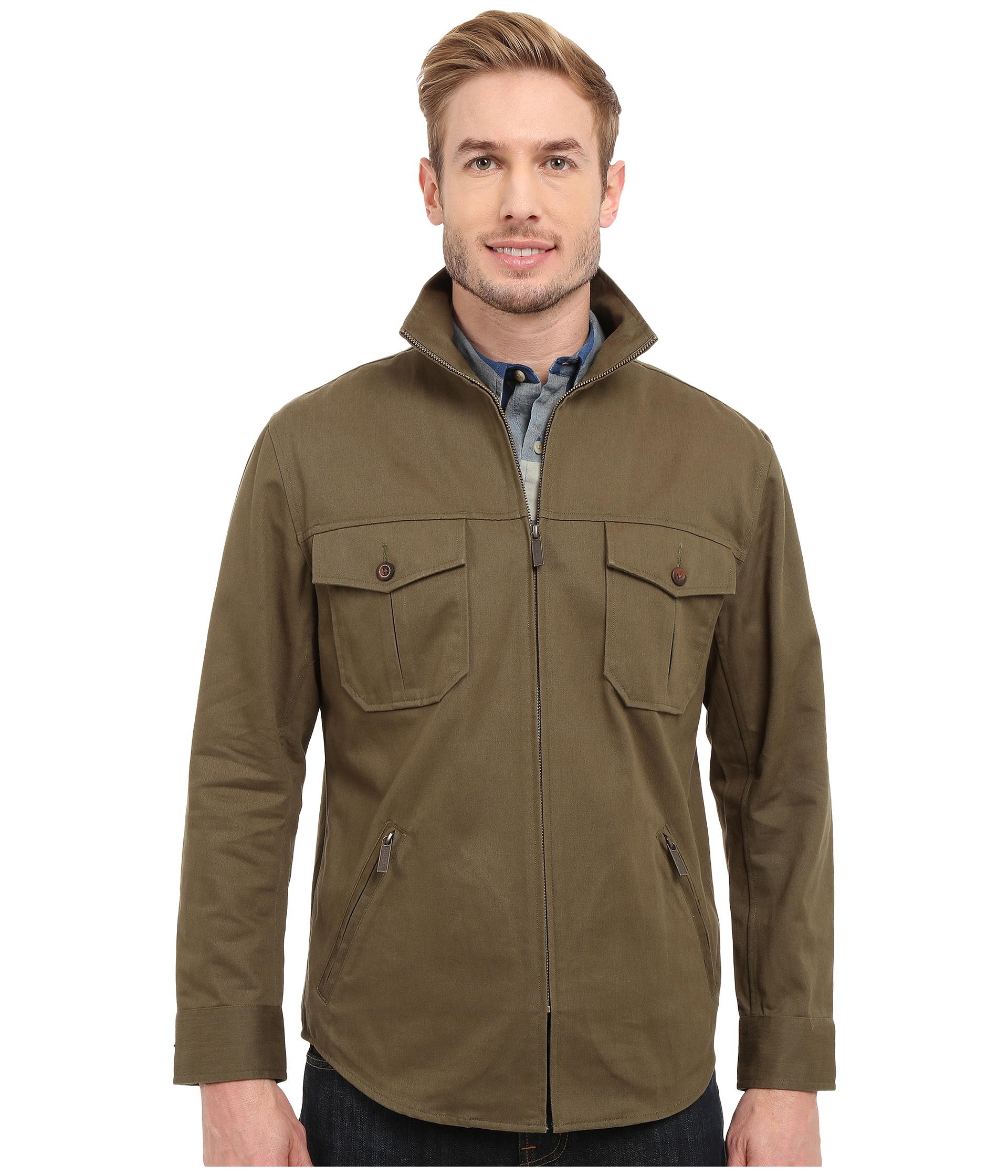 Pendleton Twill Shirt Jacket in Green for Men | Lyst