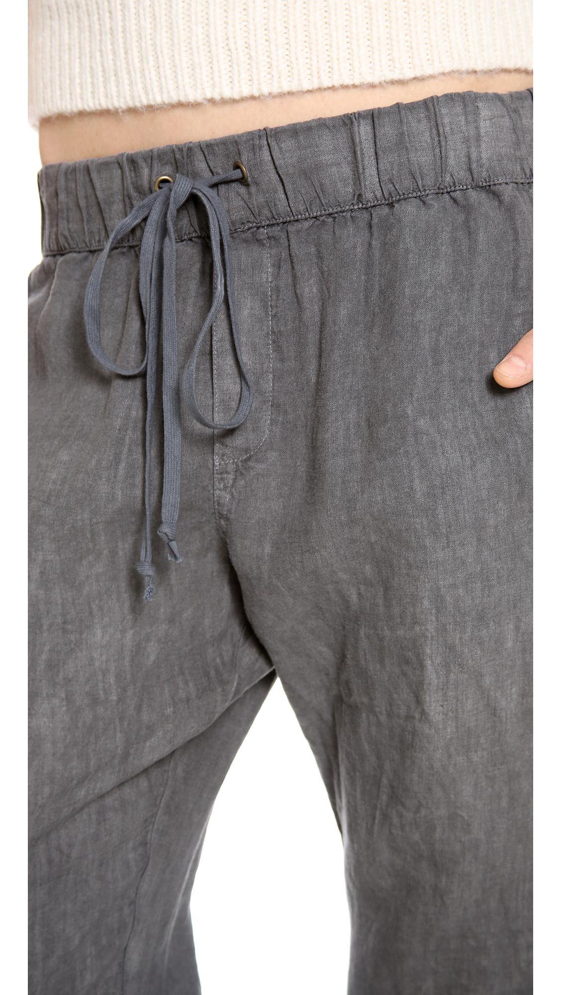 Enza costa Linen Lounge Pants in Gray | Lyst