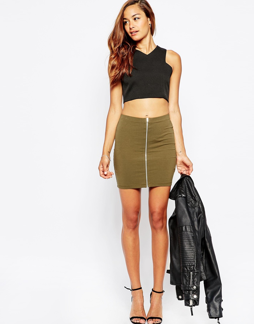 Khaki Mini Skirt - Dress Ala