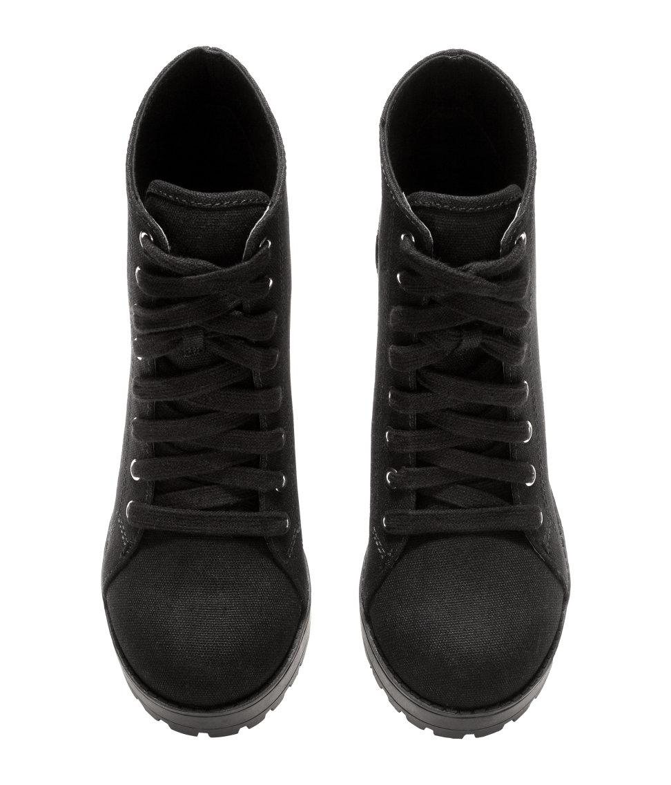 H Amp M Platform Boots In Black Lyst
