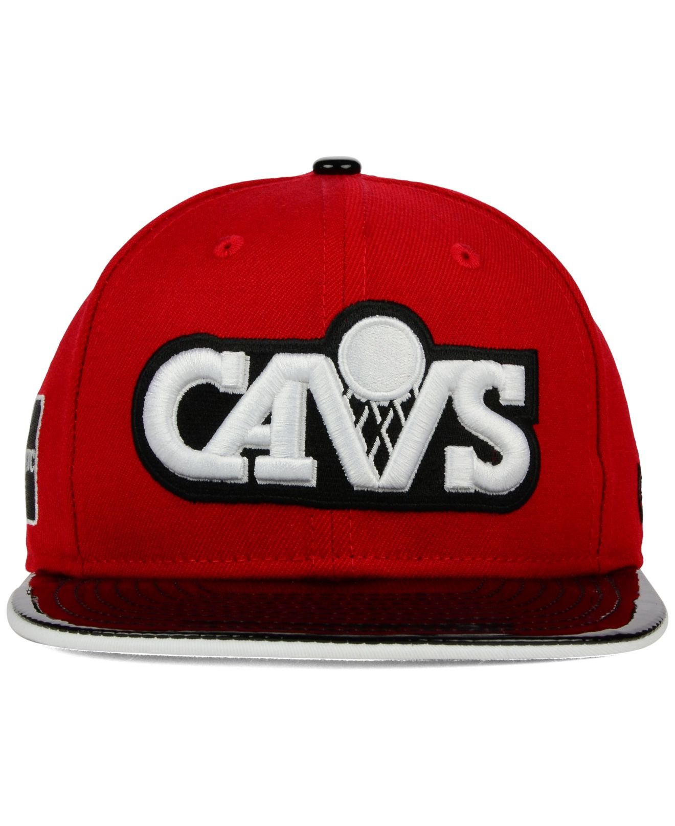 info for db8e9 681a6 KTZ Cleveland Cavaliers Bred Hookup 9Fifty Snapback Cap in Red for ...