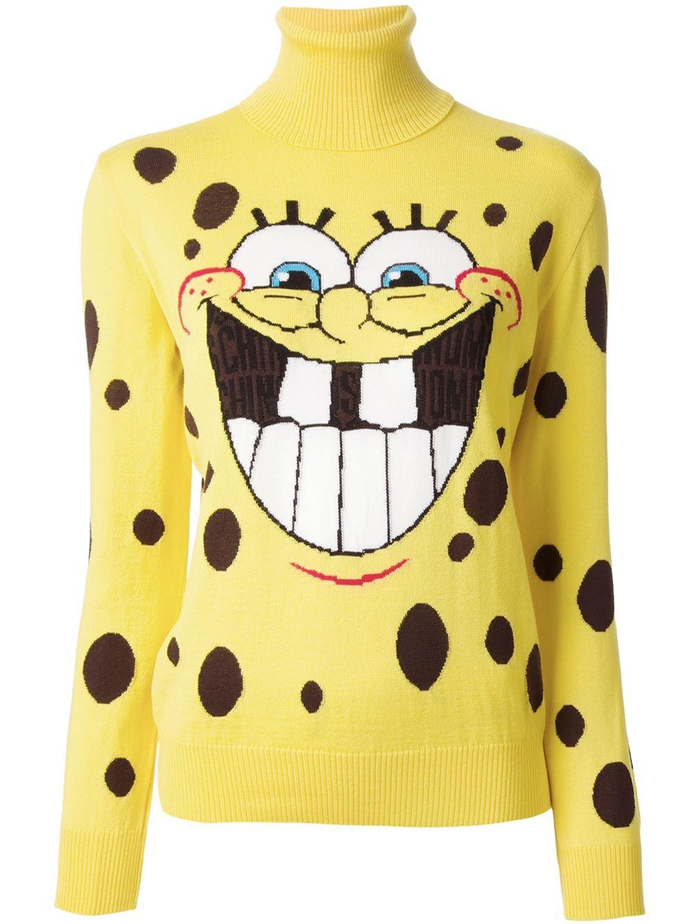 Lyst - Moschino Spongebob Squarepants Sweater in Yellow