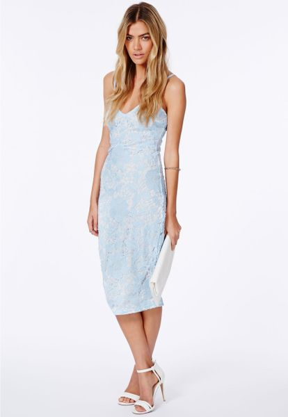 Buy Baby Blue Lace Frill Midi Dress online now from Quiz. Great deals and free UK delivery. This is the perfect wedding guest dress. In an all over lace material with frill detail and bodycon style. Wear with high heel shoes and additional jewellery for a pretty look.