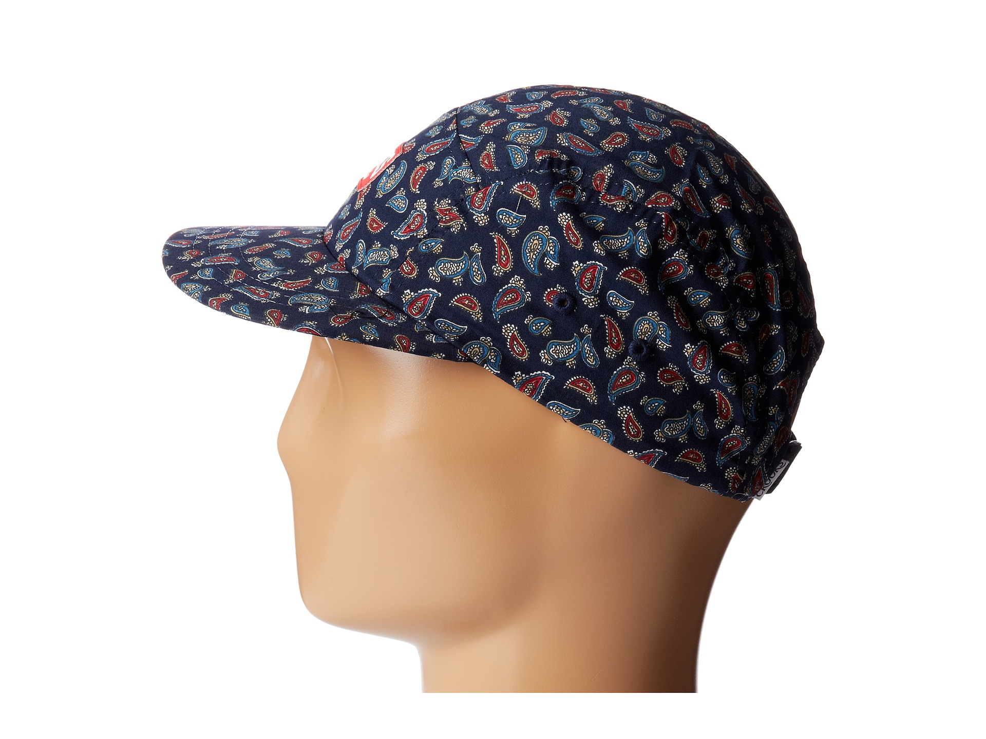 0be3fcd865fd1 Crooks and Castles Elite Paisley Woven 5panel Cap in Blue for Men - Lyst