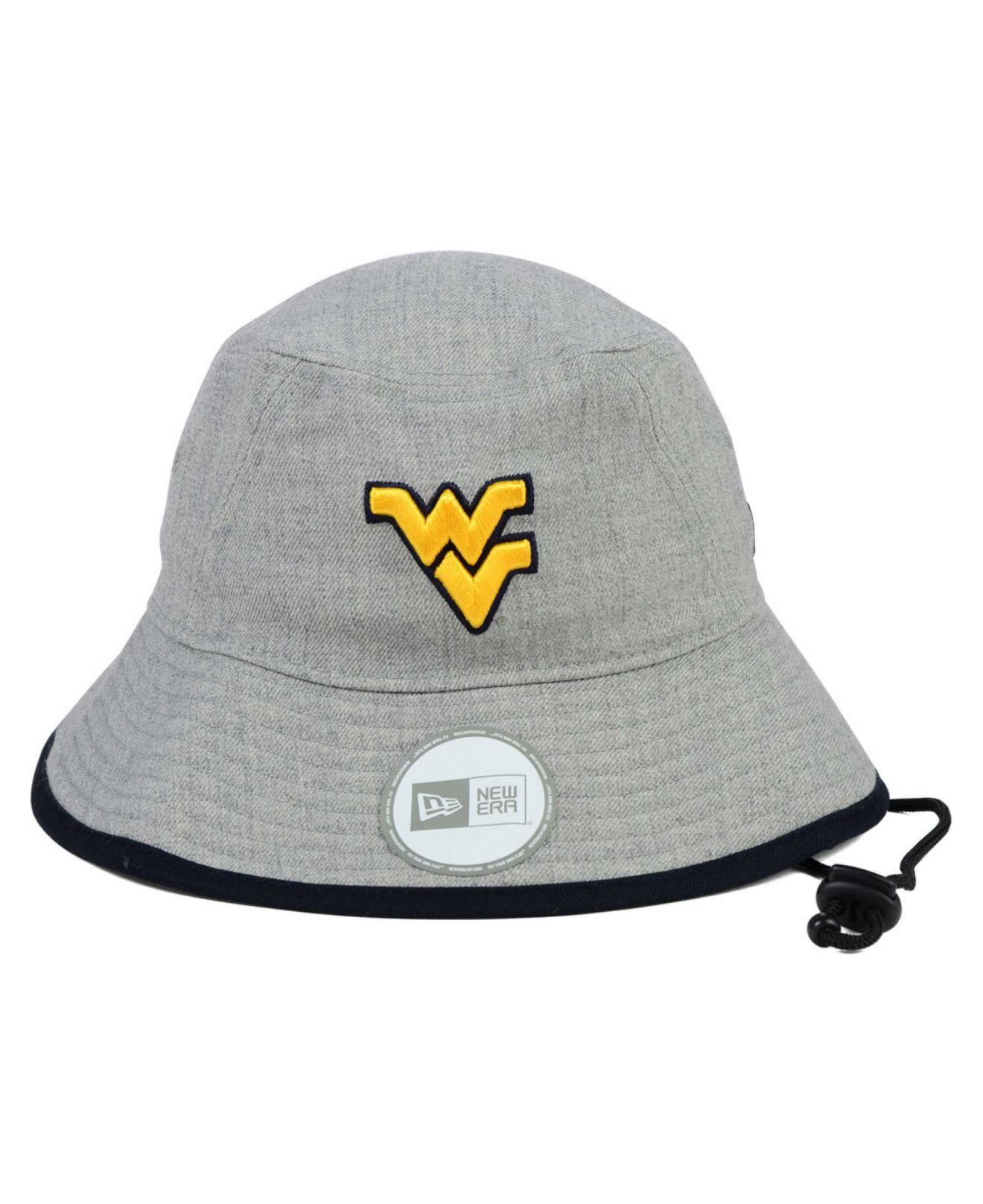 ef7e7730c89 ... uk lyst ktz west virginia mountaineers tip bucket hat in gray for men  c44c1 ea81e