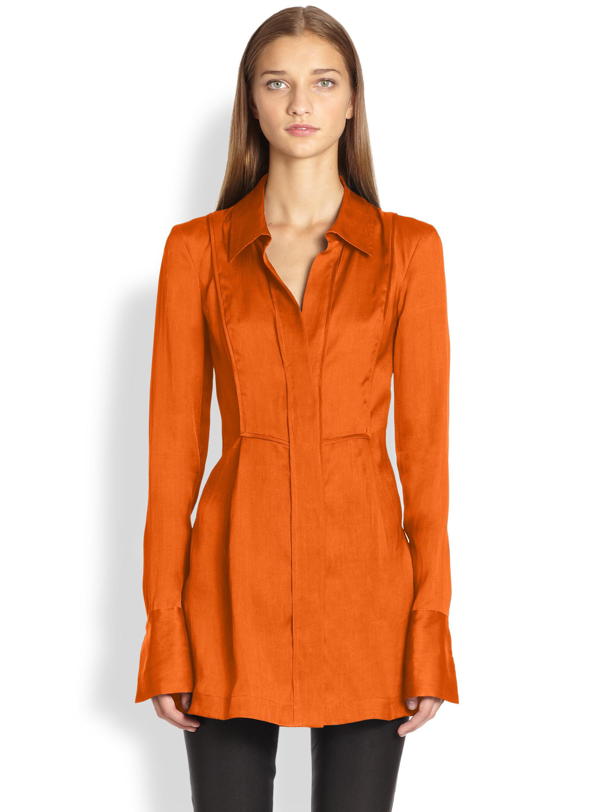 Donna Karan Silk Organza Tunic Blouse 88