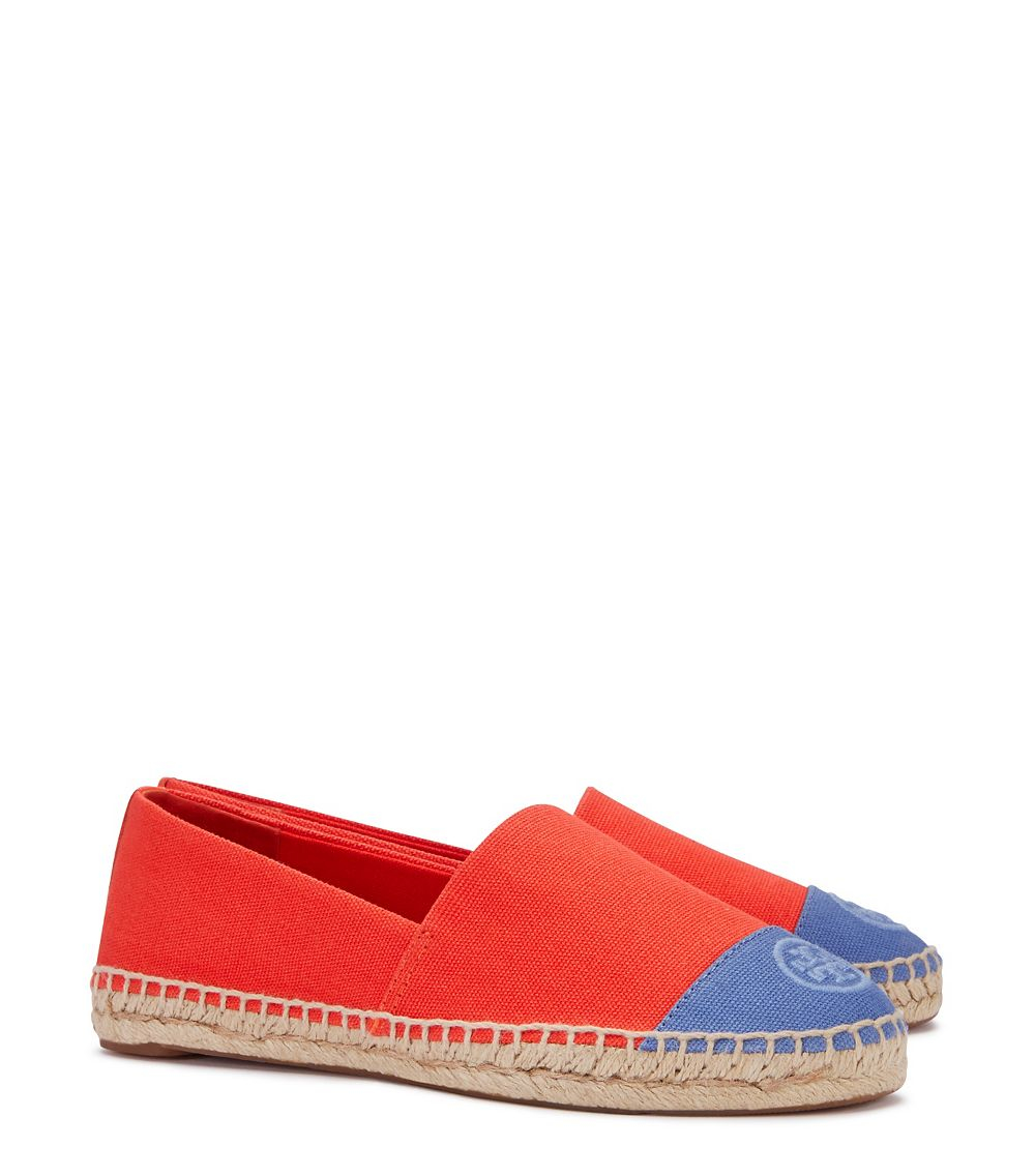 a69961409fc3 Lyst - Tory Burch Color-block Espadrille in Red