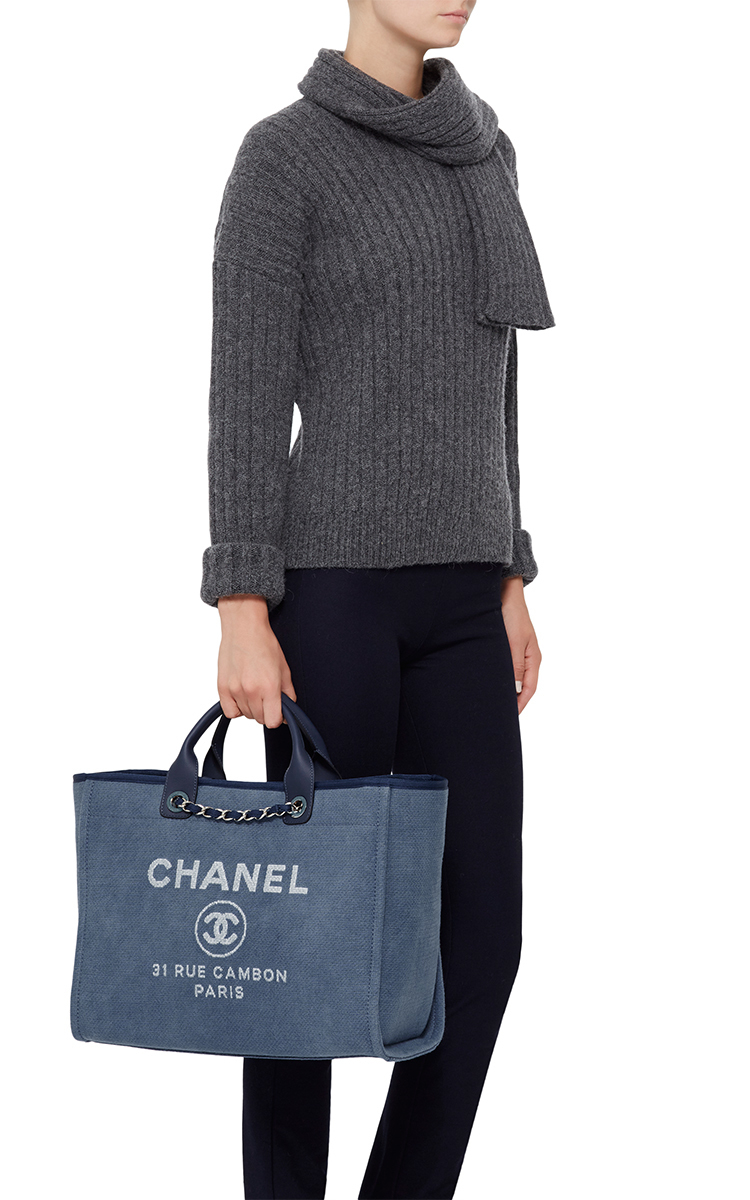 bd1edb6b9d9f Madison Avenue Couture Chanel Large Deauville Canvas Tote Bag in ...