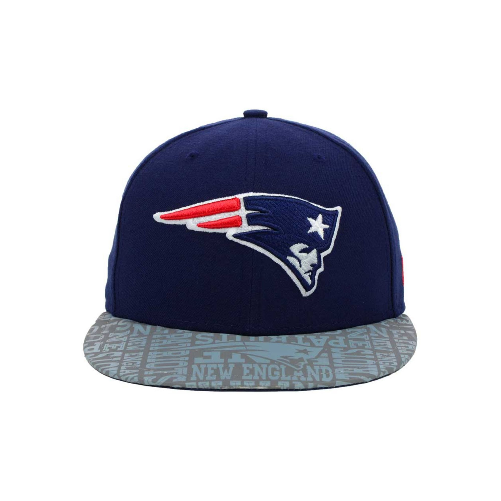 New era Kids New England Patriots Nfl Draft 59fifty Cap in Gray for Men Navy/Gray  Lyst