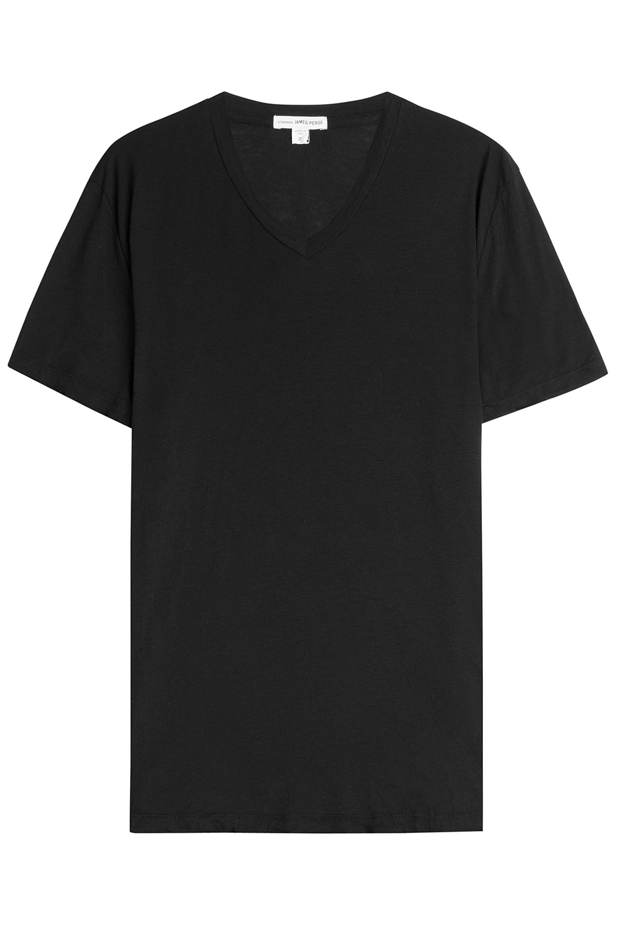 James perse cotton t shirt black in black for men lyst for James perse t shirts sale