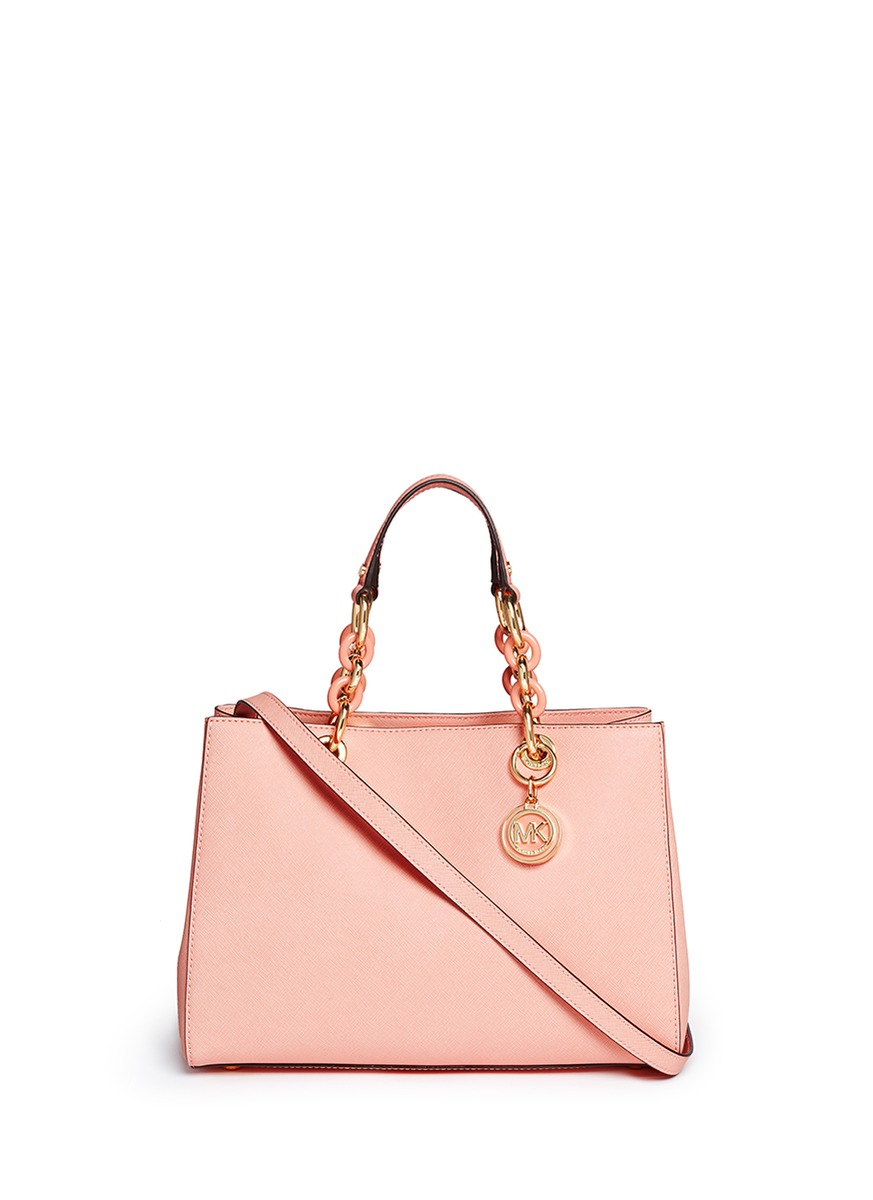 edb2108dcaa40c Michael Kors Cynthia Md Convertible Satchel Bag Soft Pink – Hanna Oaks