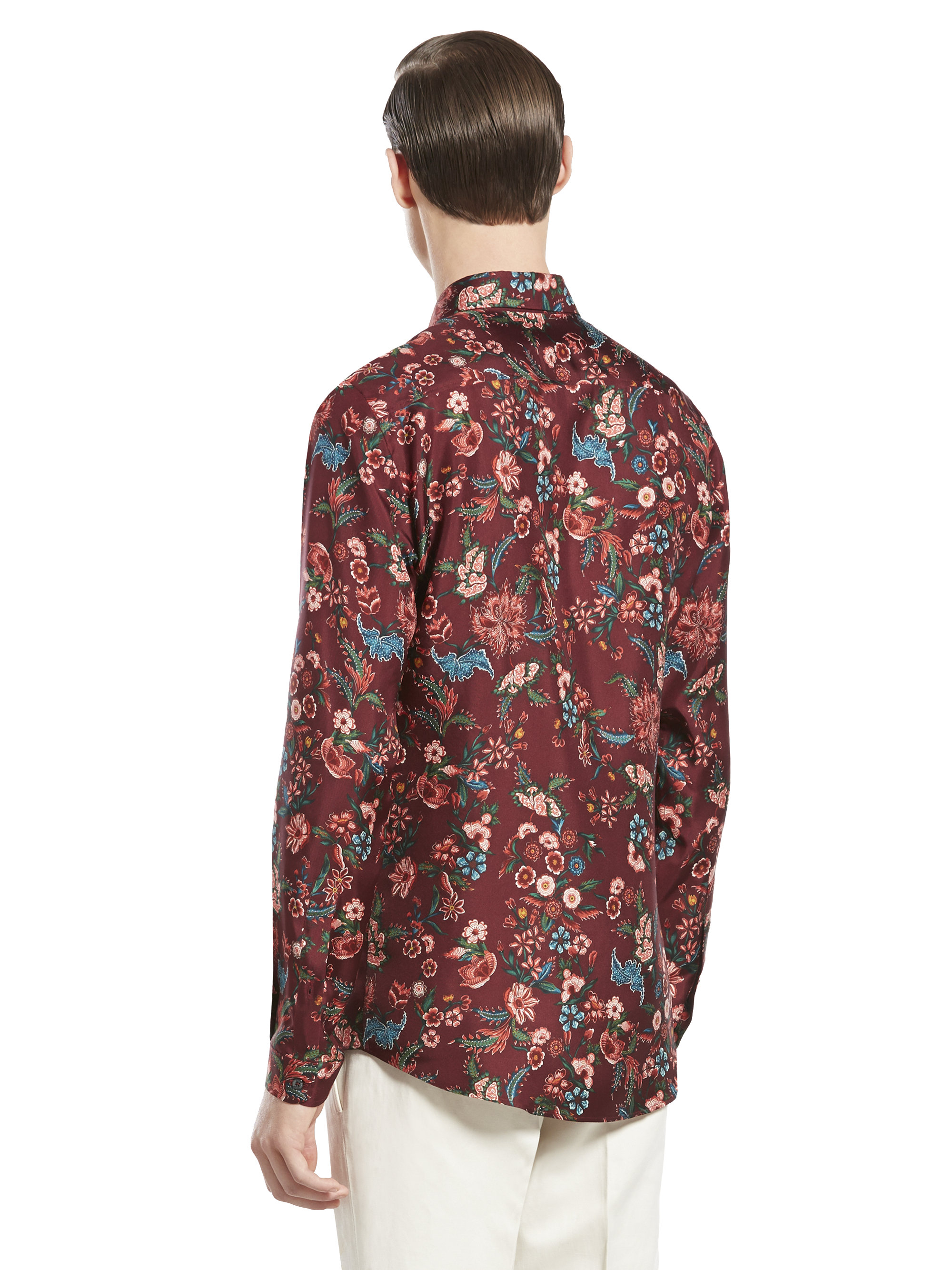 42af9047872c Gucci Floral Pattern Woven Shirt in Red for Men - Lyst