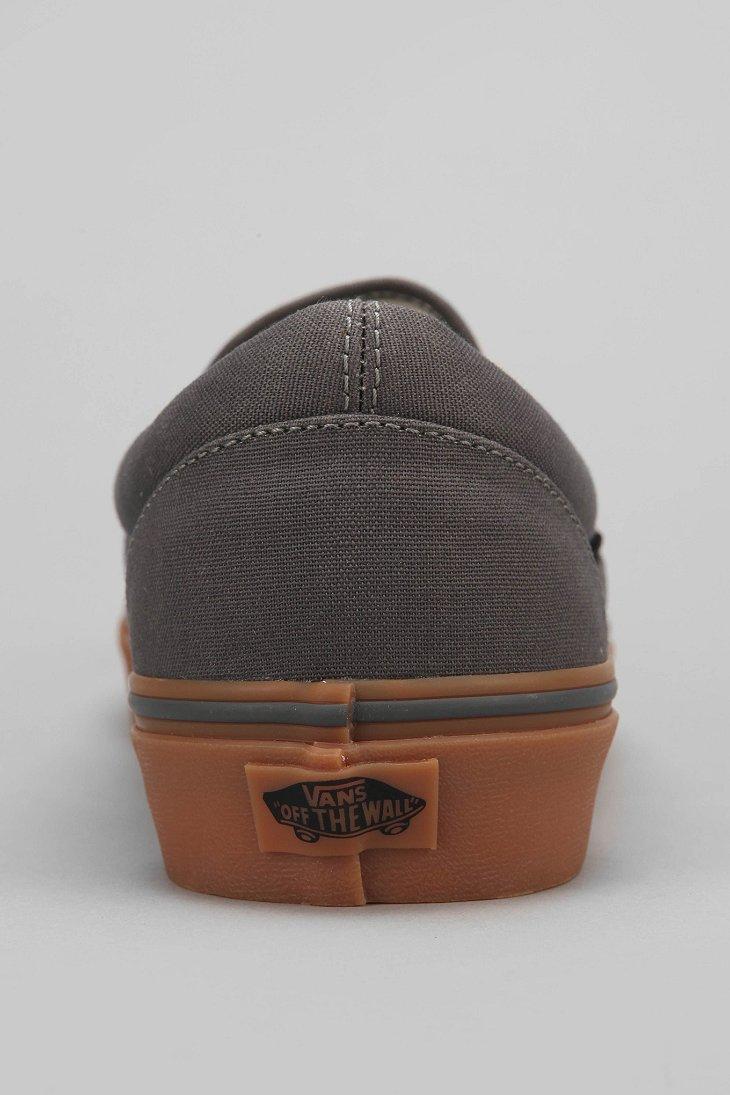 Vans Classic Gum-Sole Slip-On Sneaker in Grey (Gray) for Men - Lyst