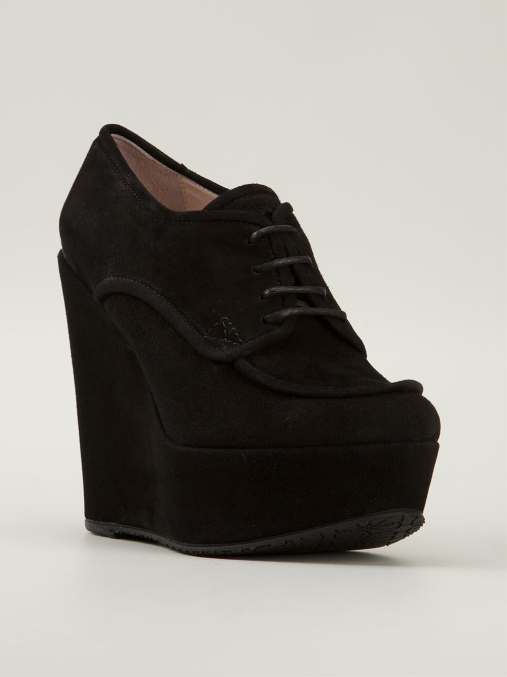 opening ceremony oxford wedge shoes in black lyst