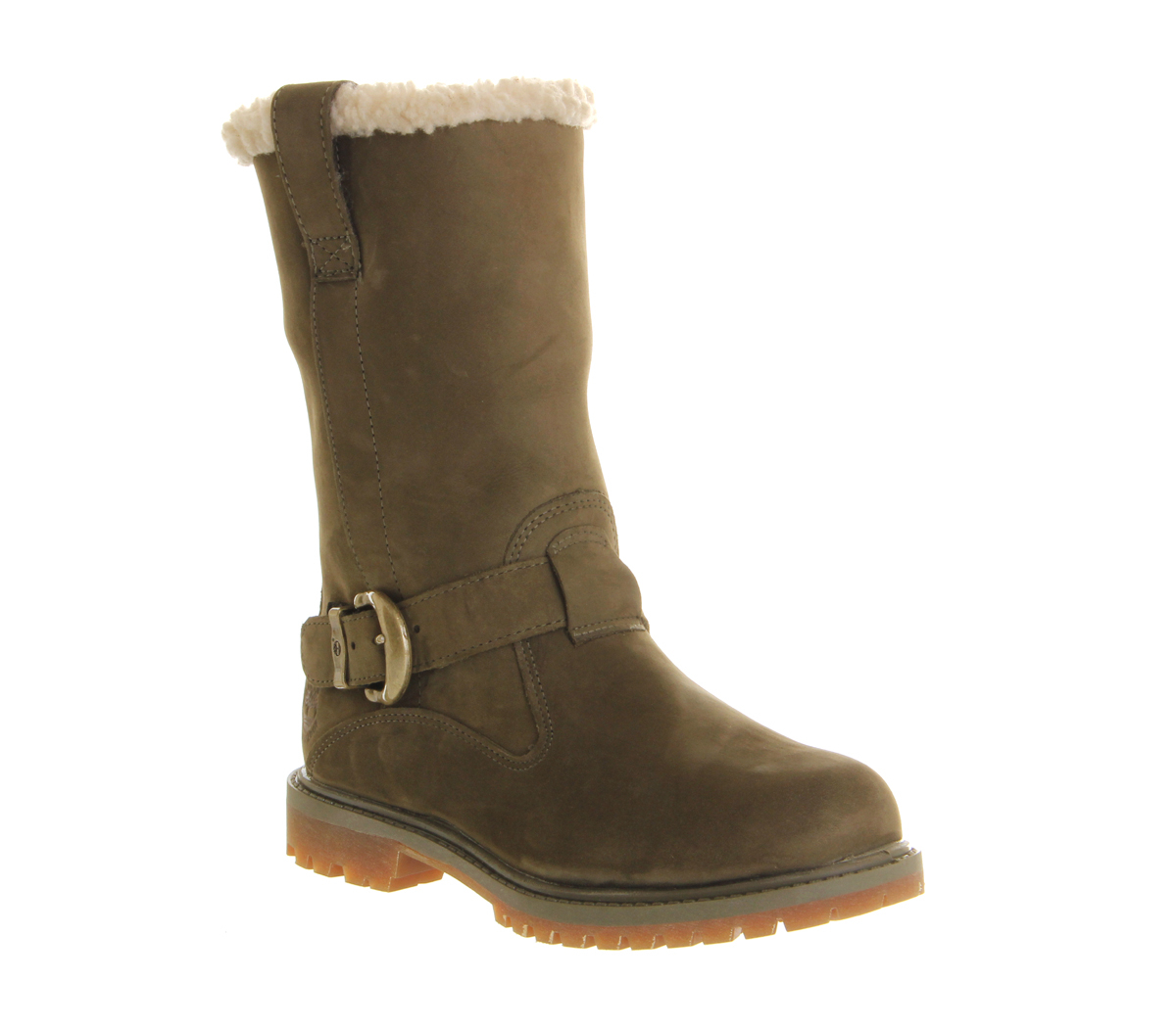 timberland nellie pull on boot in green olive lyst