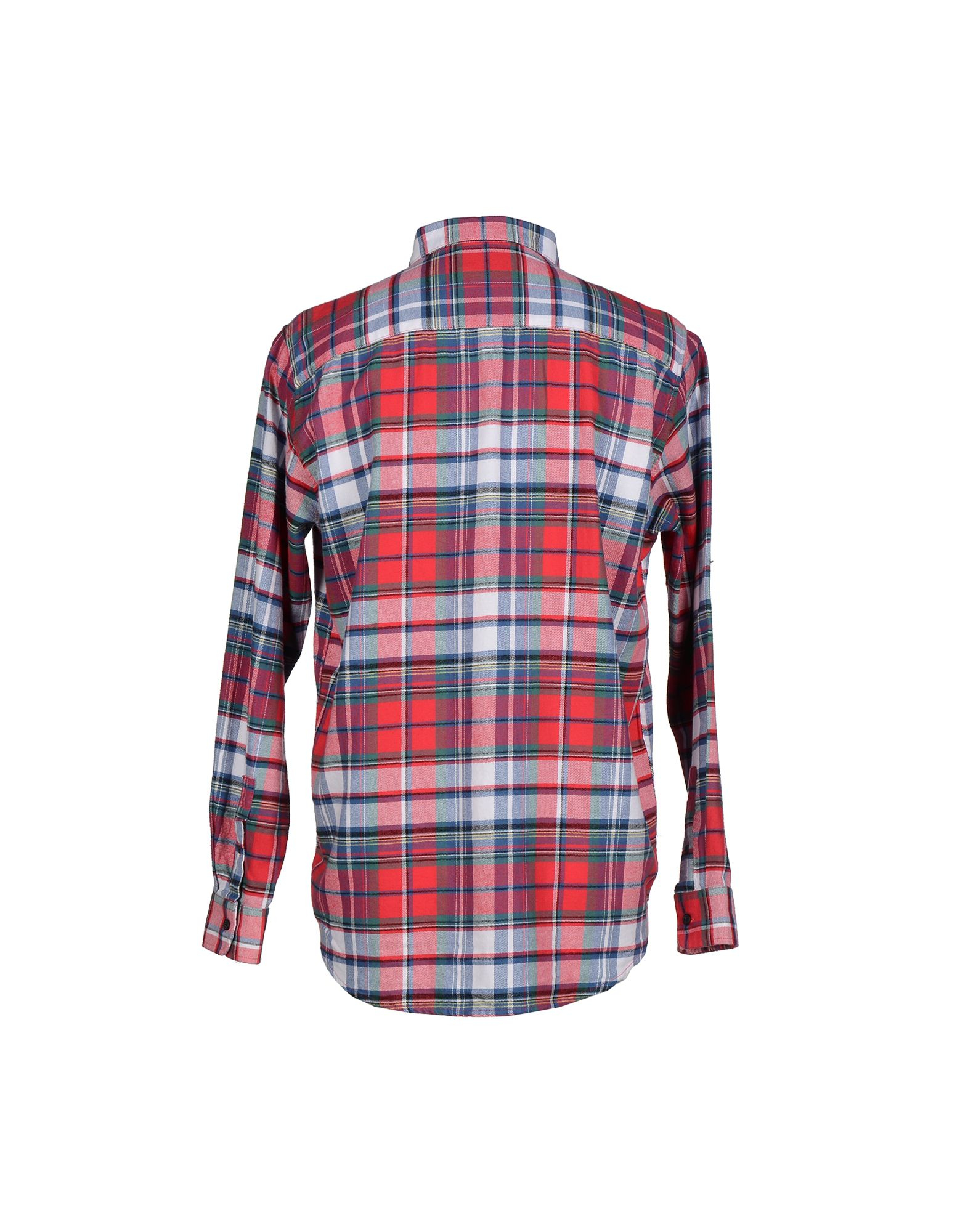 Cheap monday shirt in red for men lyst for Really cheap custom shirts