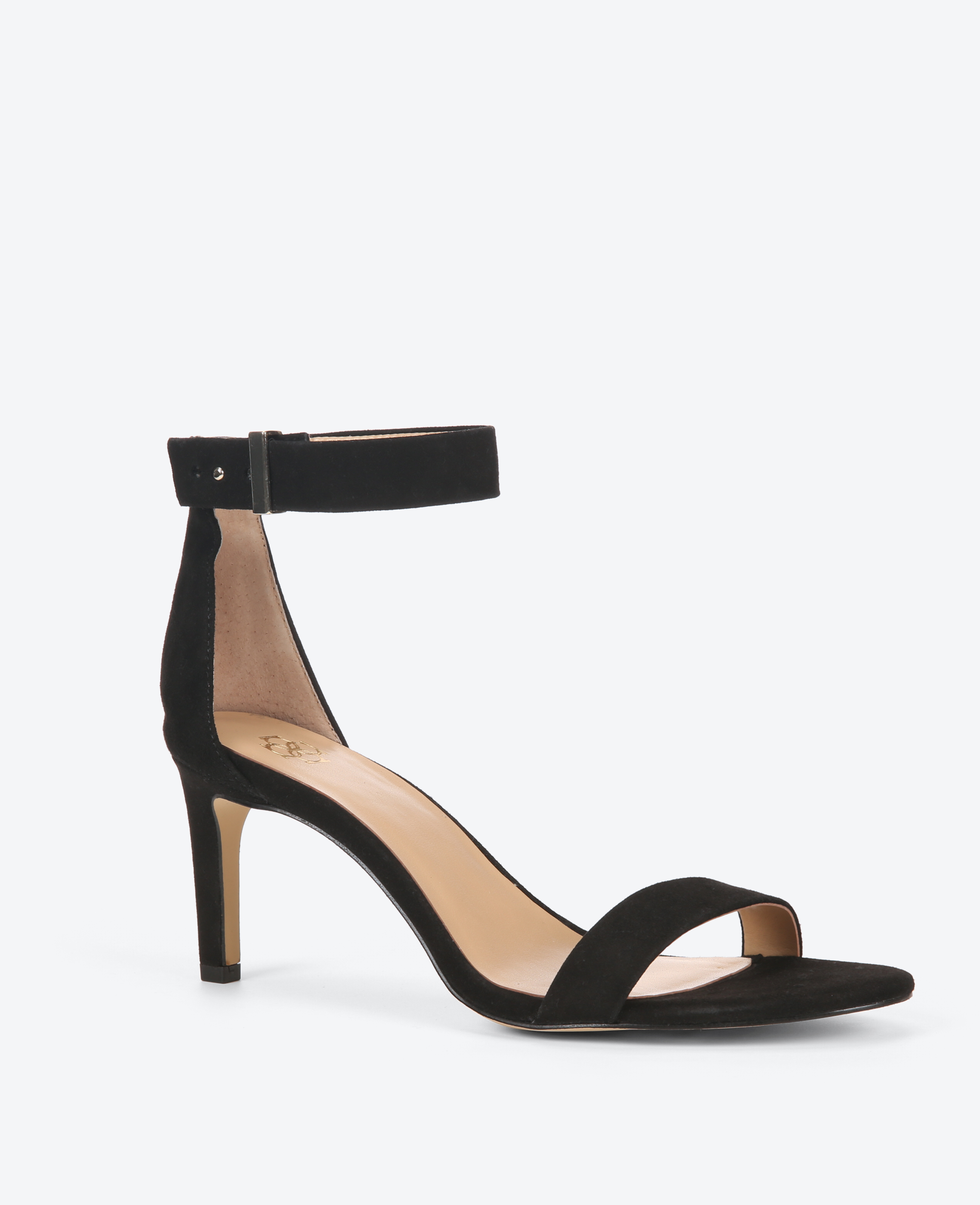Ann taylor Alaina Suede Ankle Strap Sandals in Black