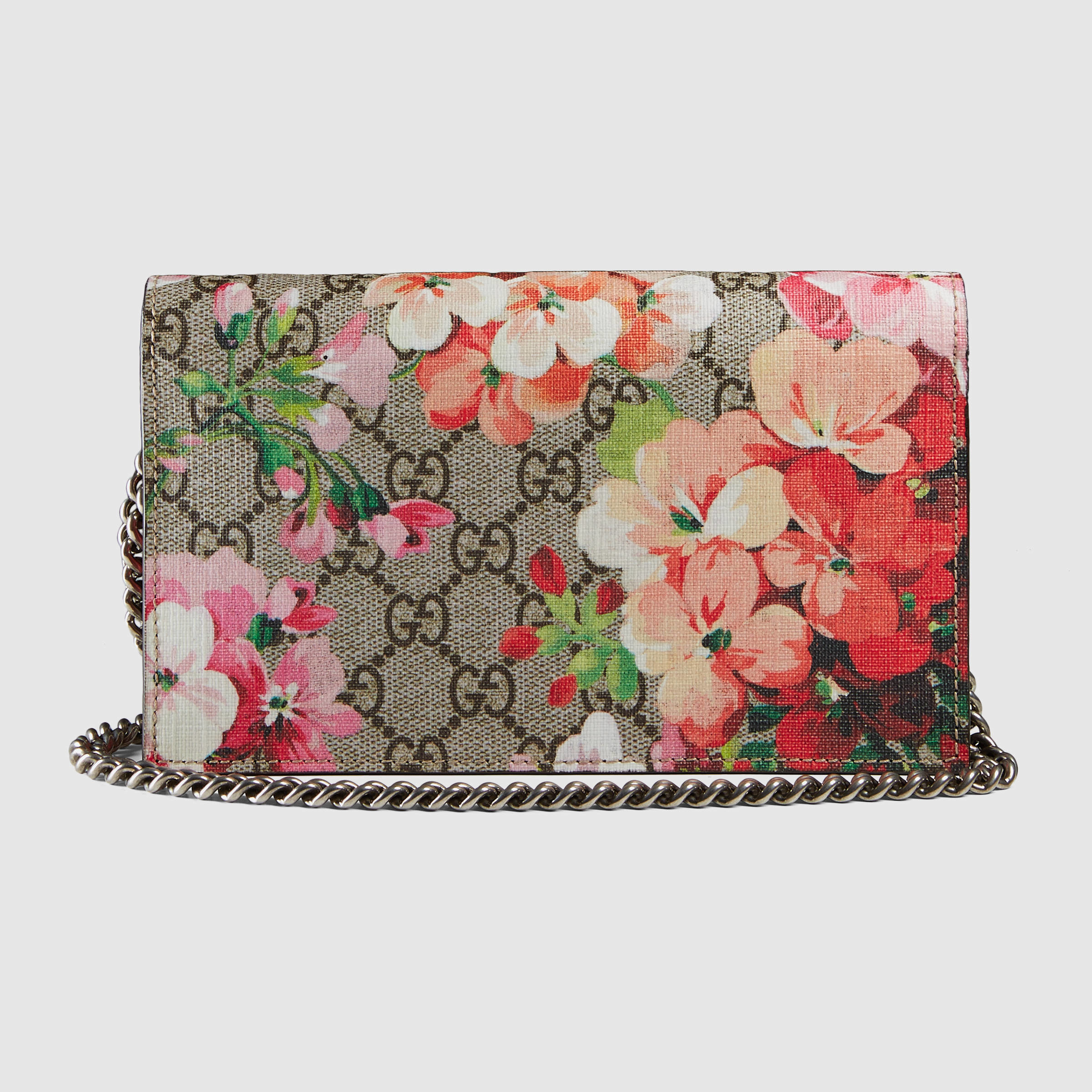 7a722eaee2300a Gucci Gg Blooms Supreme Chain Wallet - Lyst