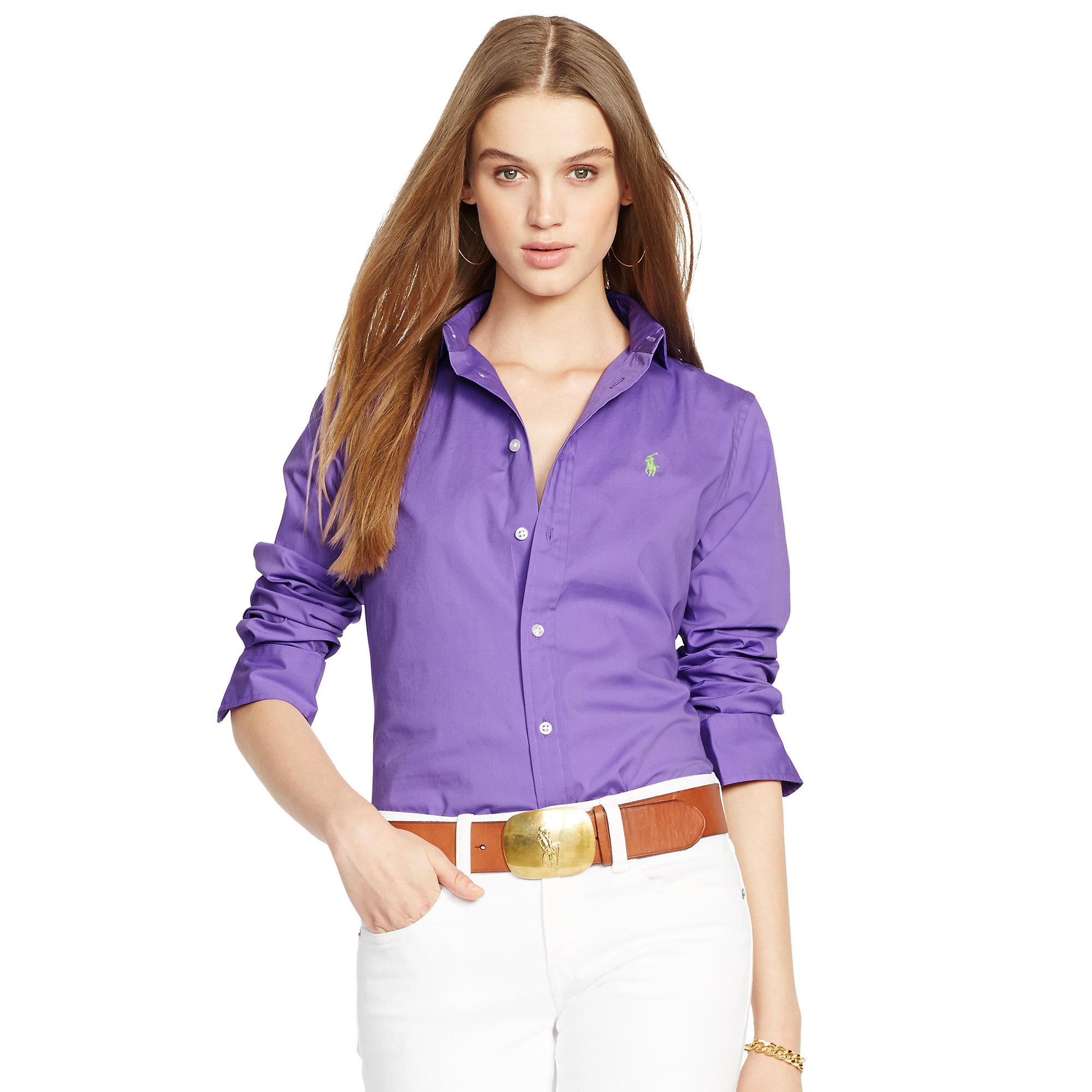polo ralph lauren long sleeve polo shirt in custom fit ...