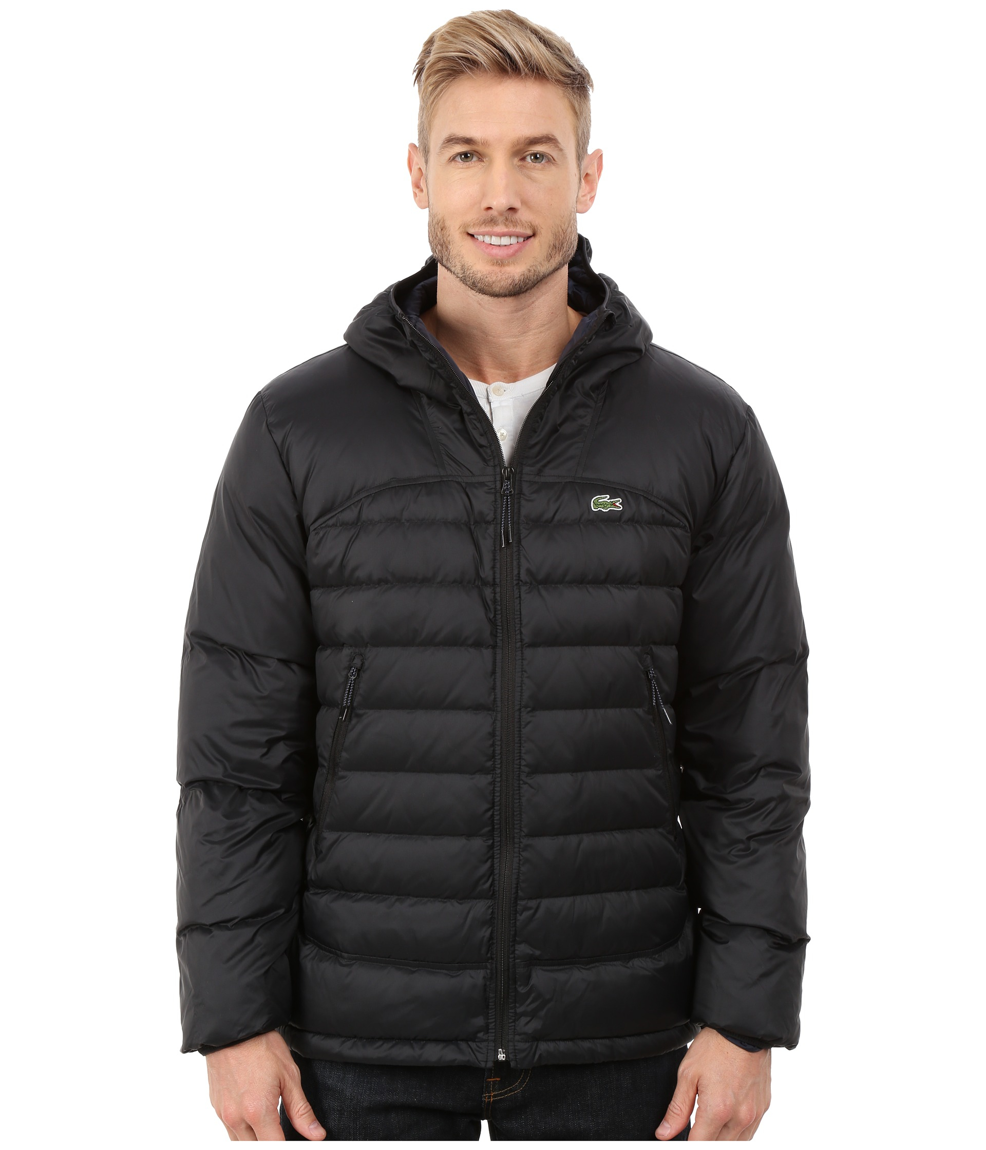 Lacoste Light Weight Packable Down Jacket in Black for Men | Lyst