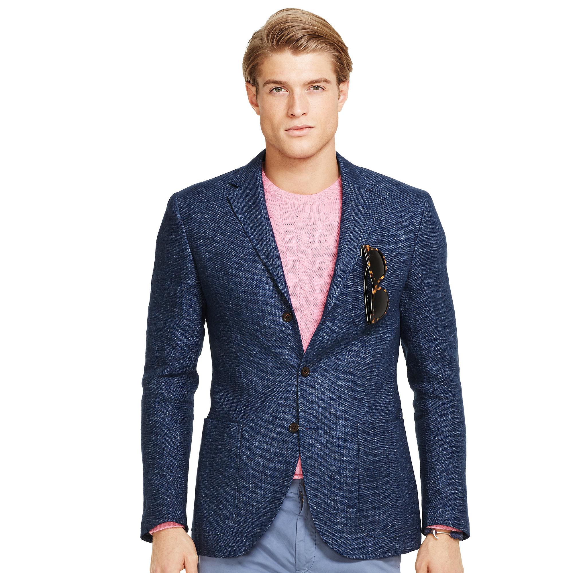 4093d290 Polo Ralph Lauren Blue Morgan Basketweave Sport Coat for men