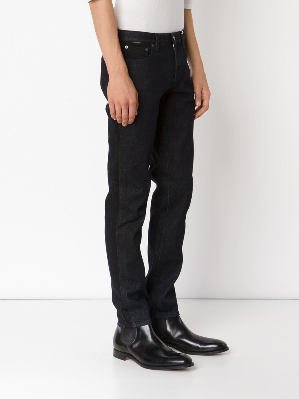 Viktor & Rolf Denim Straight Leg Jeans in Black for Men