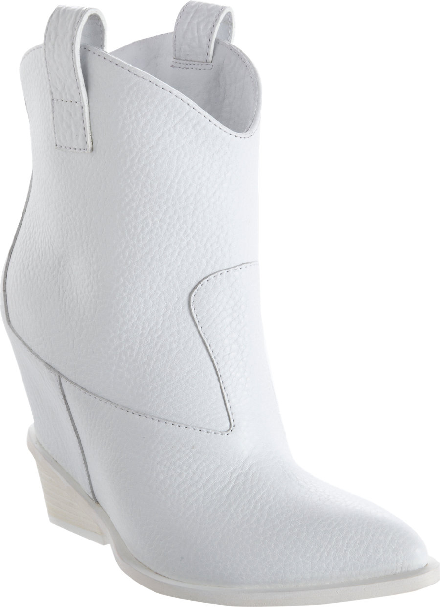 Giuseppe Zanotti Westernstyle Wedge Ankle Boot In White Lyst