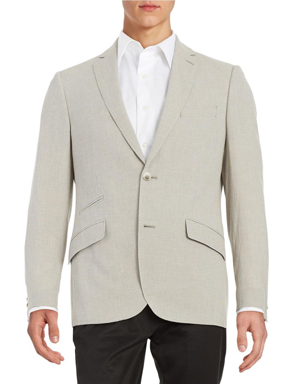 Lyst Black Amp Brown Seersucker Blazer In Gray For Men