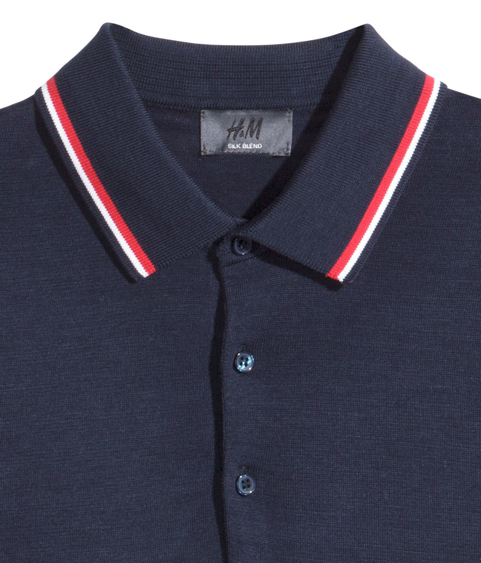 Lyst h m polo shirt in a silk mix in blue for men for H m polo shirt mens