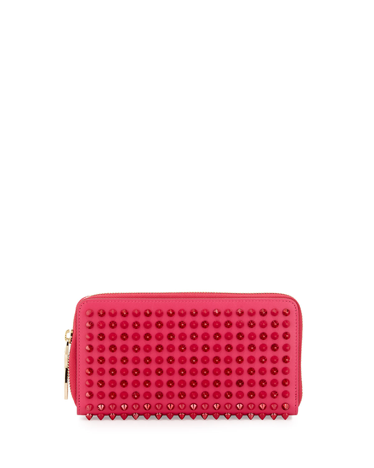 4be2c30c36a Christian Louboutin Pink Panettone Spike Stud Continental Wallet
