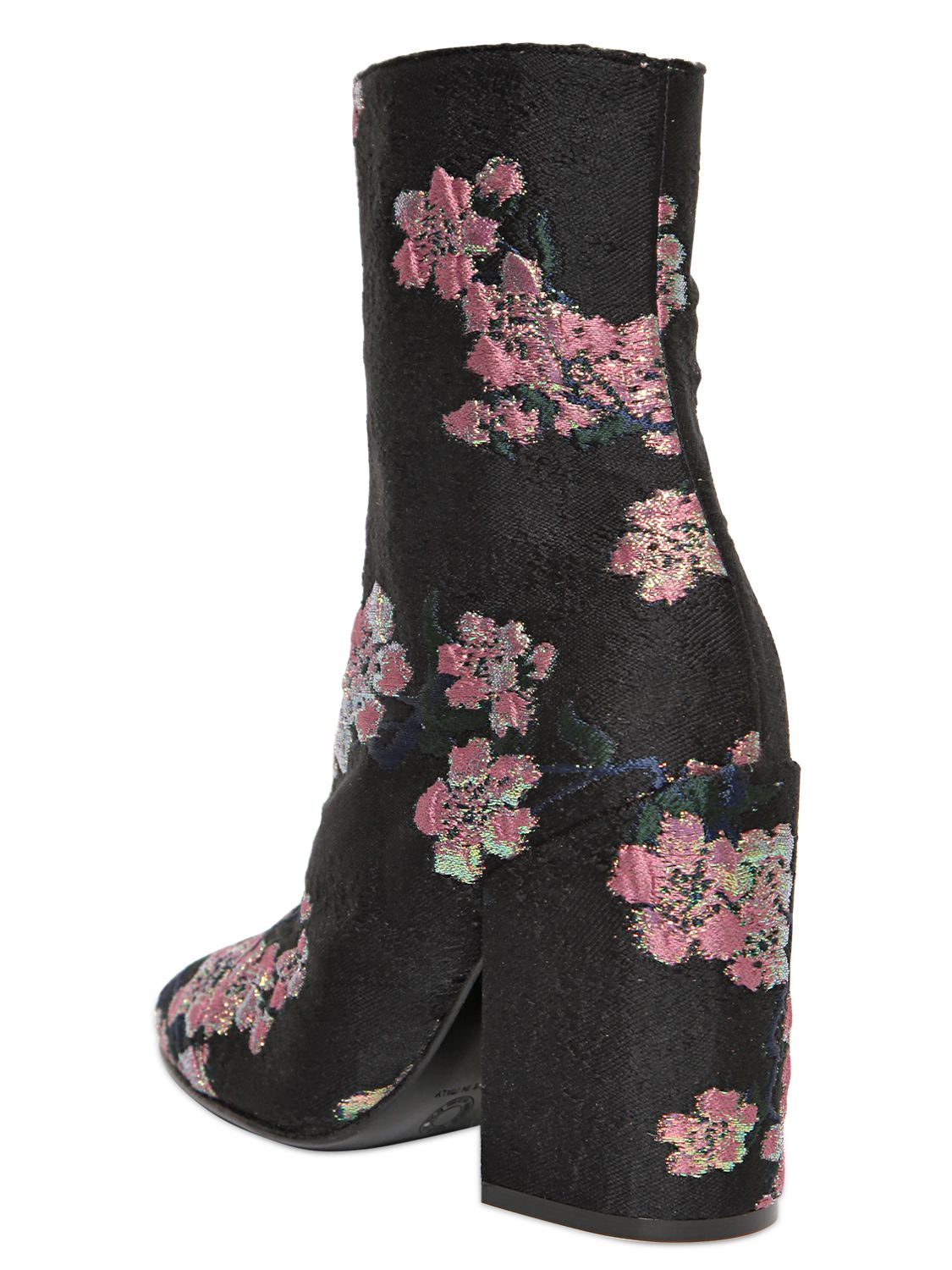 Dries Van Noten 110mm Floral Embroidered Brocade Boots In