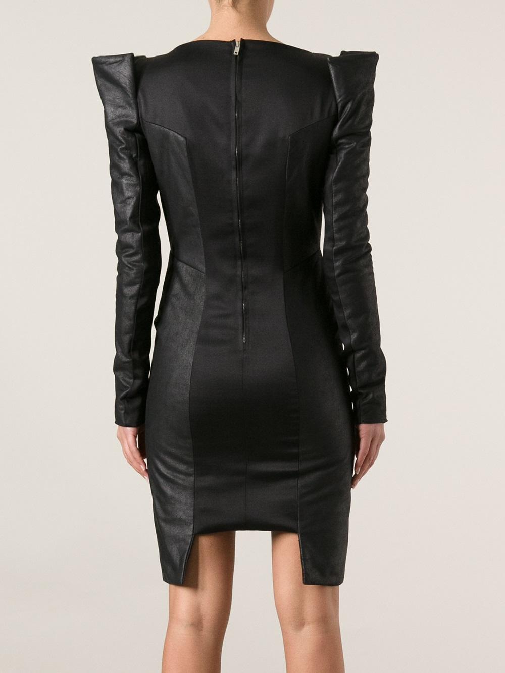 Lyst Gareth Pugh Sculpted Shoulder Dress In Black