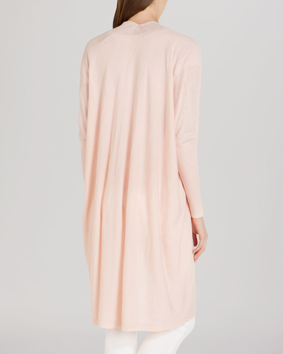 Ted baker Zema Long Waterfall Cardigan in Natural | Lyst