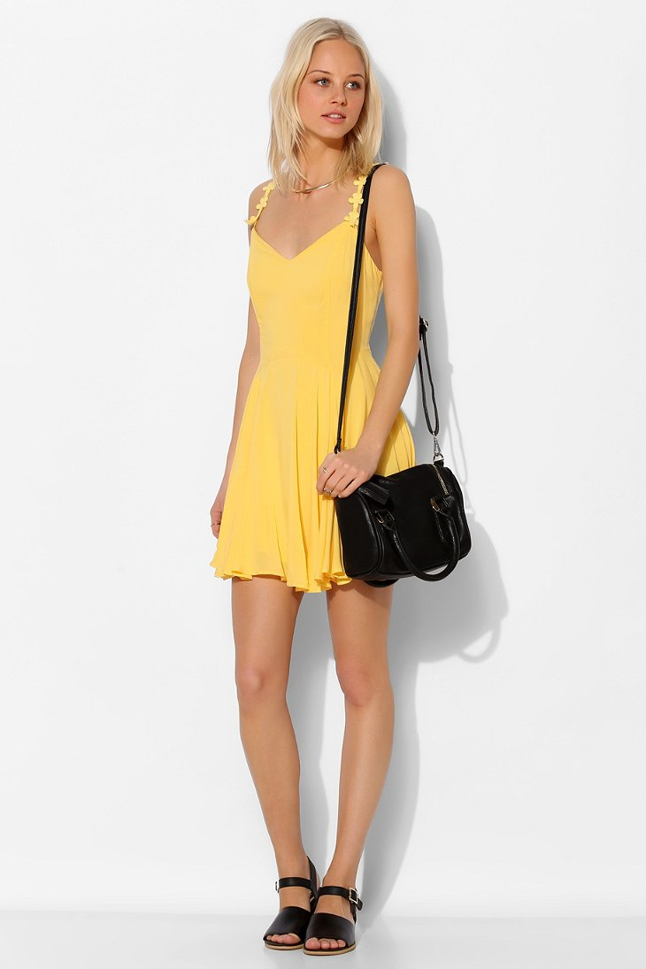 Kimchi Blue Daisy Strap Dress In Yellow Lyst