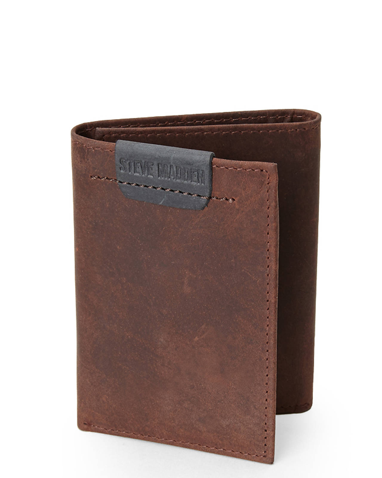 557057d6716 Steve Madden Brown Dakota Tri-Fold Wallet in Brown for Men - Lyst