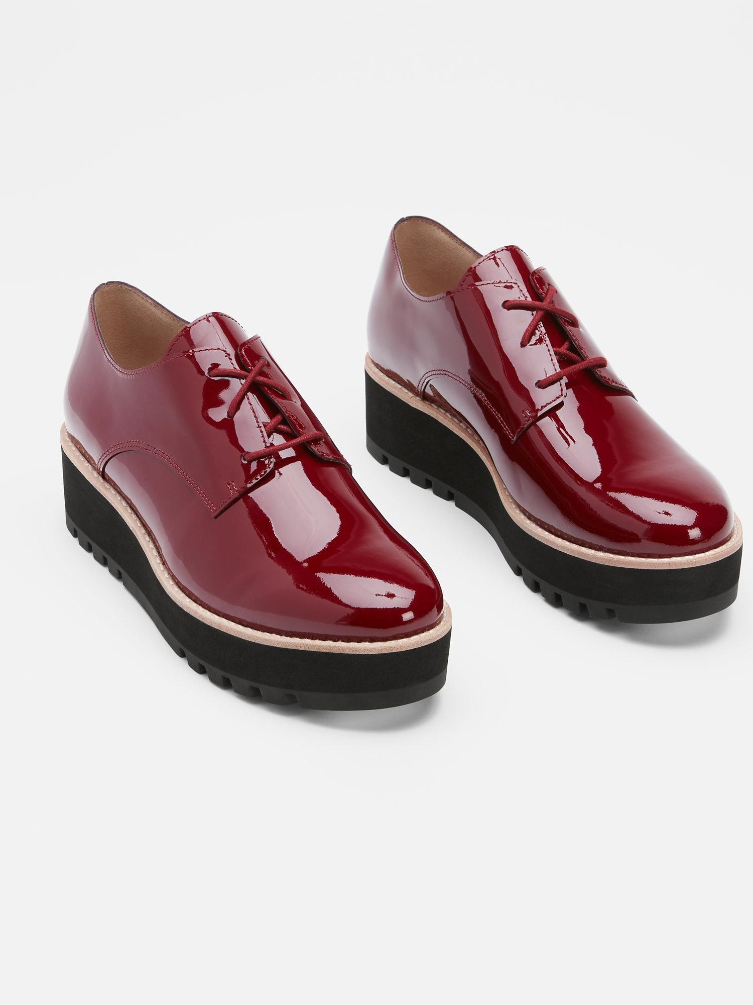 Eddy Patent Platform Oxford Shoes