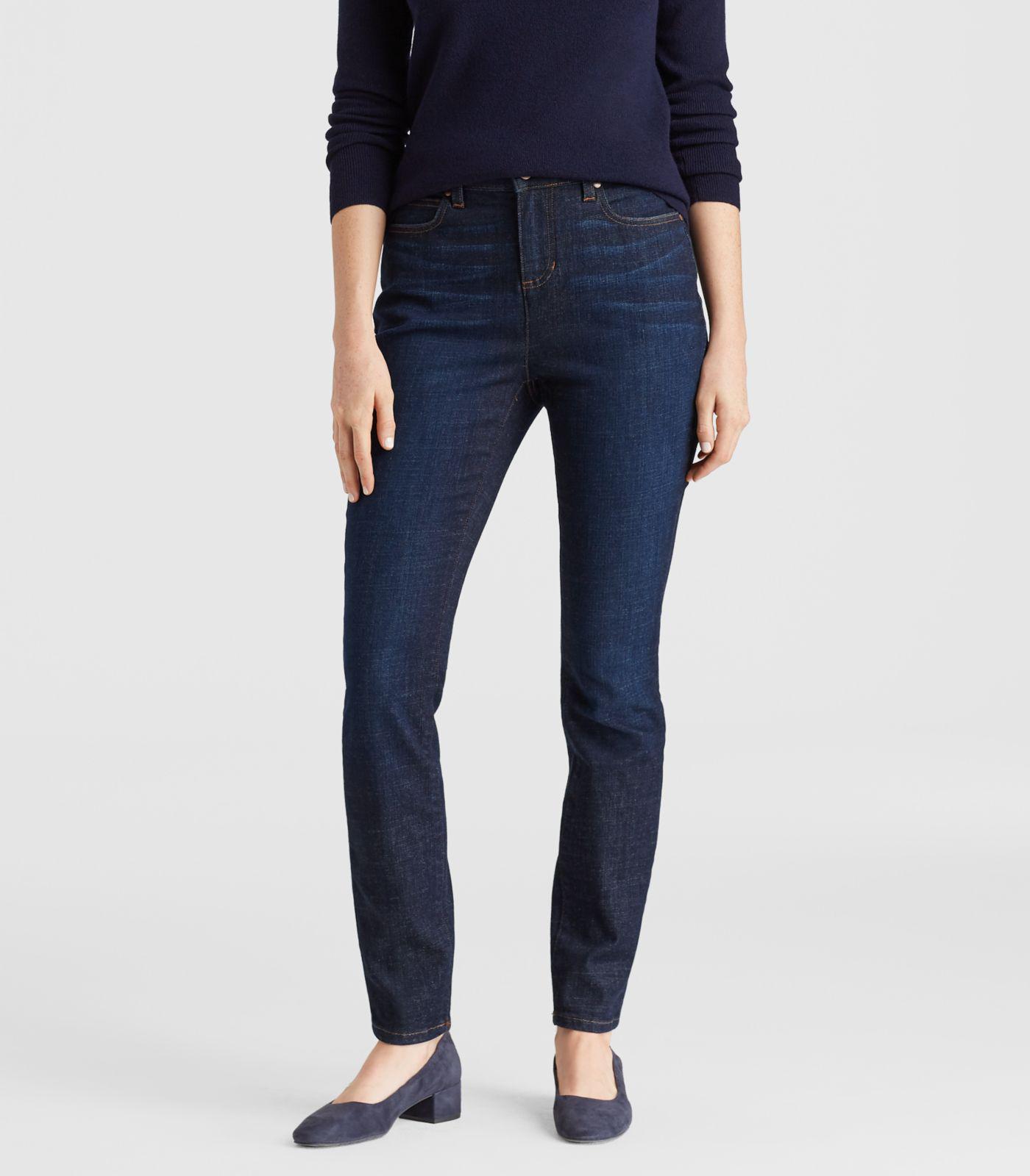 aa8763089b86a Eileen Fisher - Blue Organic Cotton High-waisted Skinny Jean - Lyst. View  fullscreen