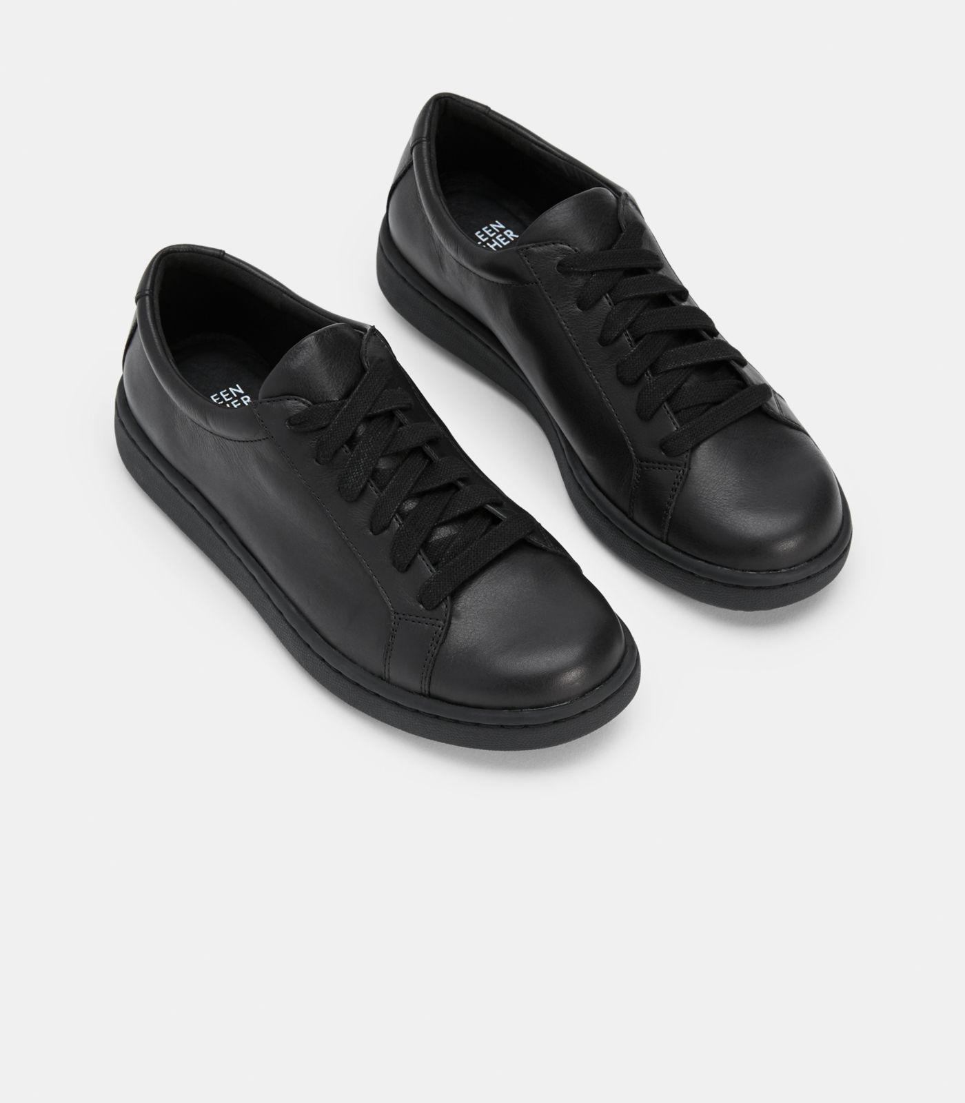6e487991f30a Eileen Fisher - Black Cal Washed Leather Sneaker - Lyst. View fullscreen