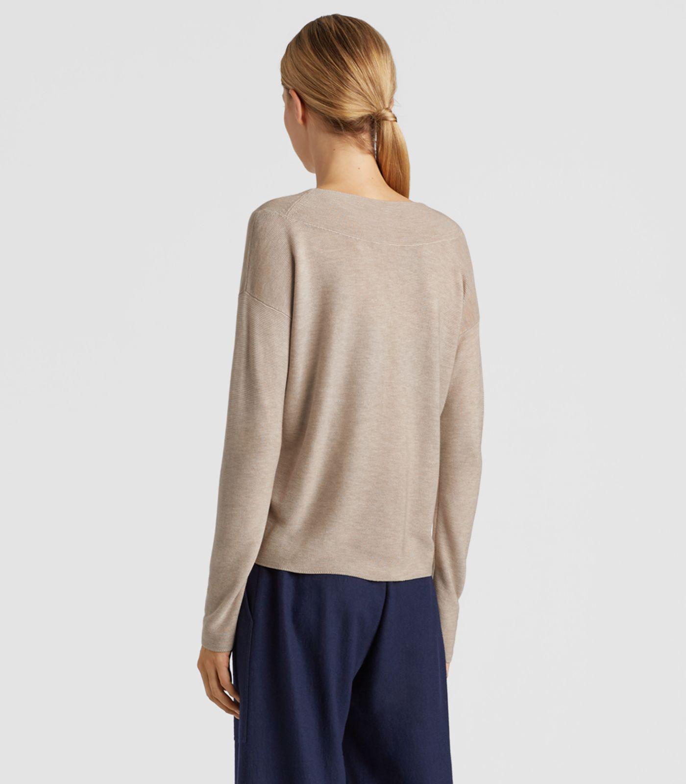 a5bf775e92 Eileen Fisher - Multicolor Silk V-neck Top - Lyst. View fullscreen