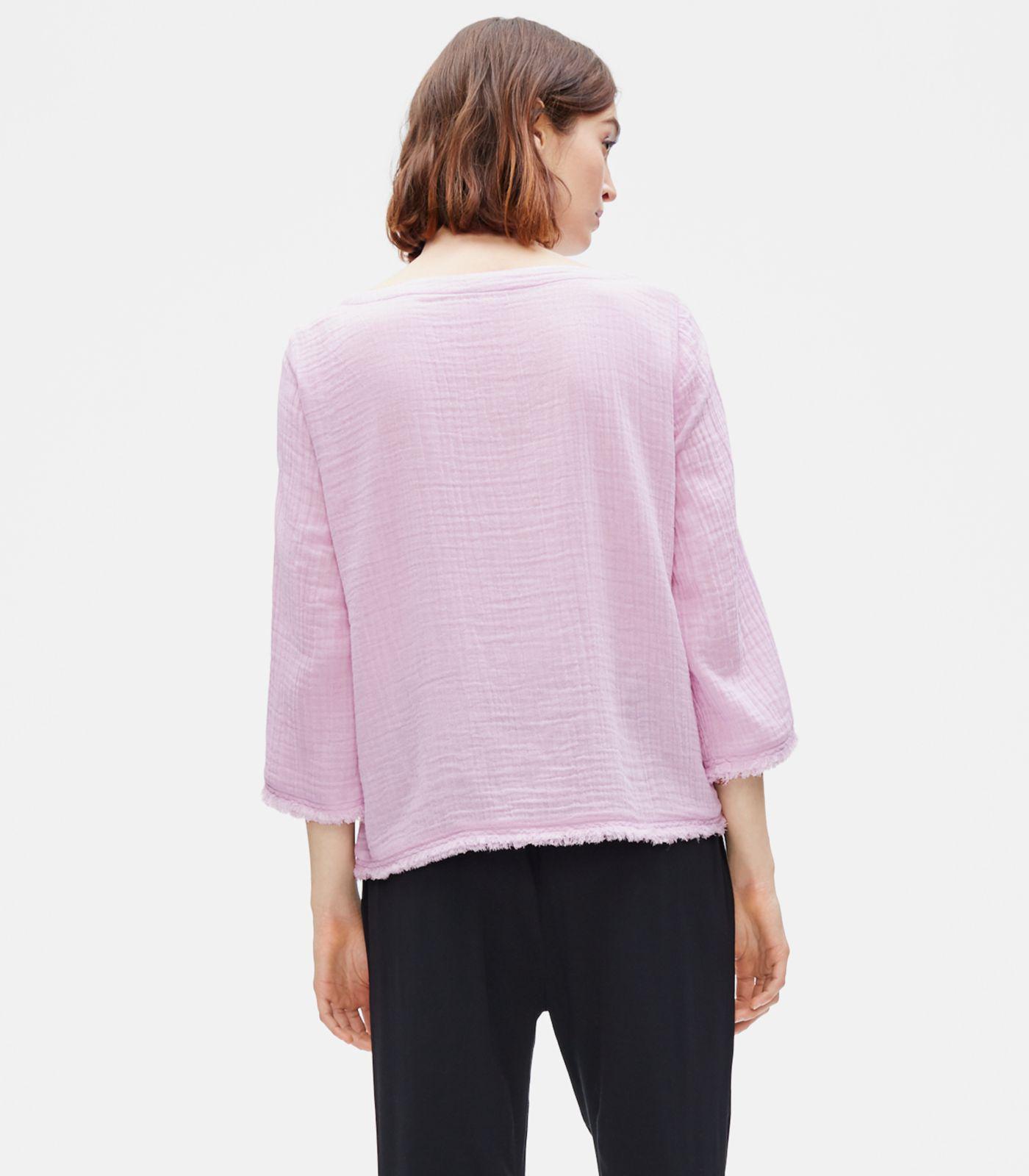 87317cfc20c826 Eileen Fisher - Multicolor Organic Cotton Lofty Gauze Box-top - Lyst. View  fullscreen